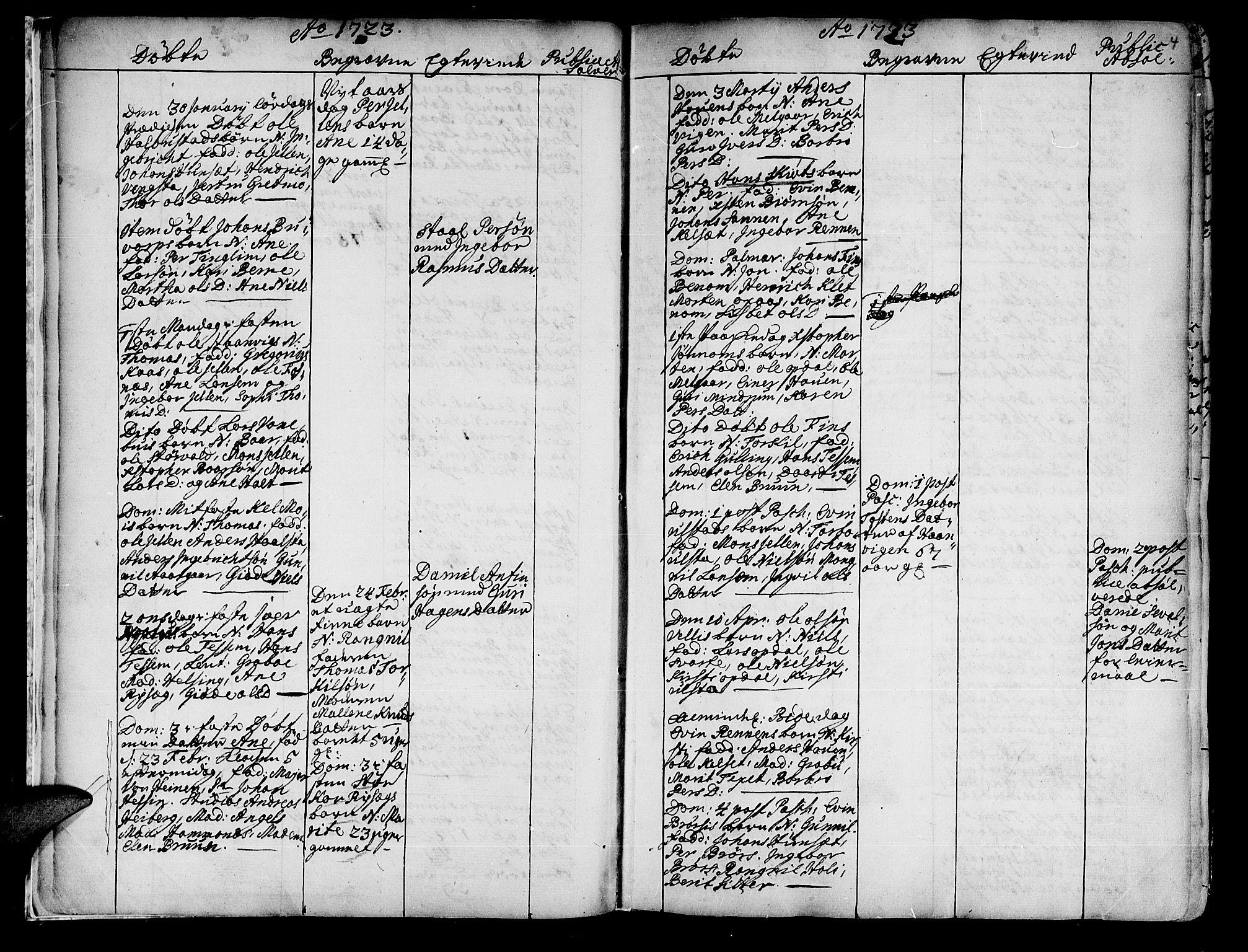 SAT, Ministerialprotokoller, klokkerbøker og fødselsregistre - Nord-Trøndelag, 741/L0385: Ministerialbok nr. 741A01, 1722-1815, s. 4