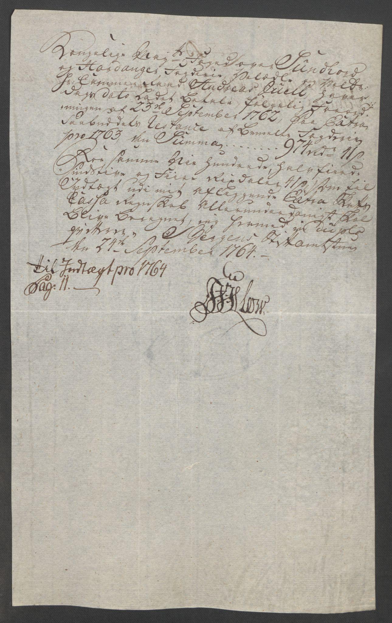 RA, Rentekammeret inntil 1814, Reviderte regnskaper, Fogderegnskap, R48/L3136: Ekstraskatten Sunnhordland og Hardanger, 1762-1772, s. 76