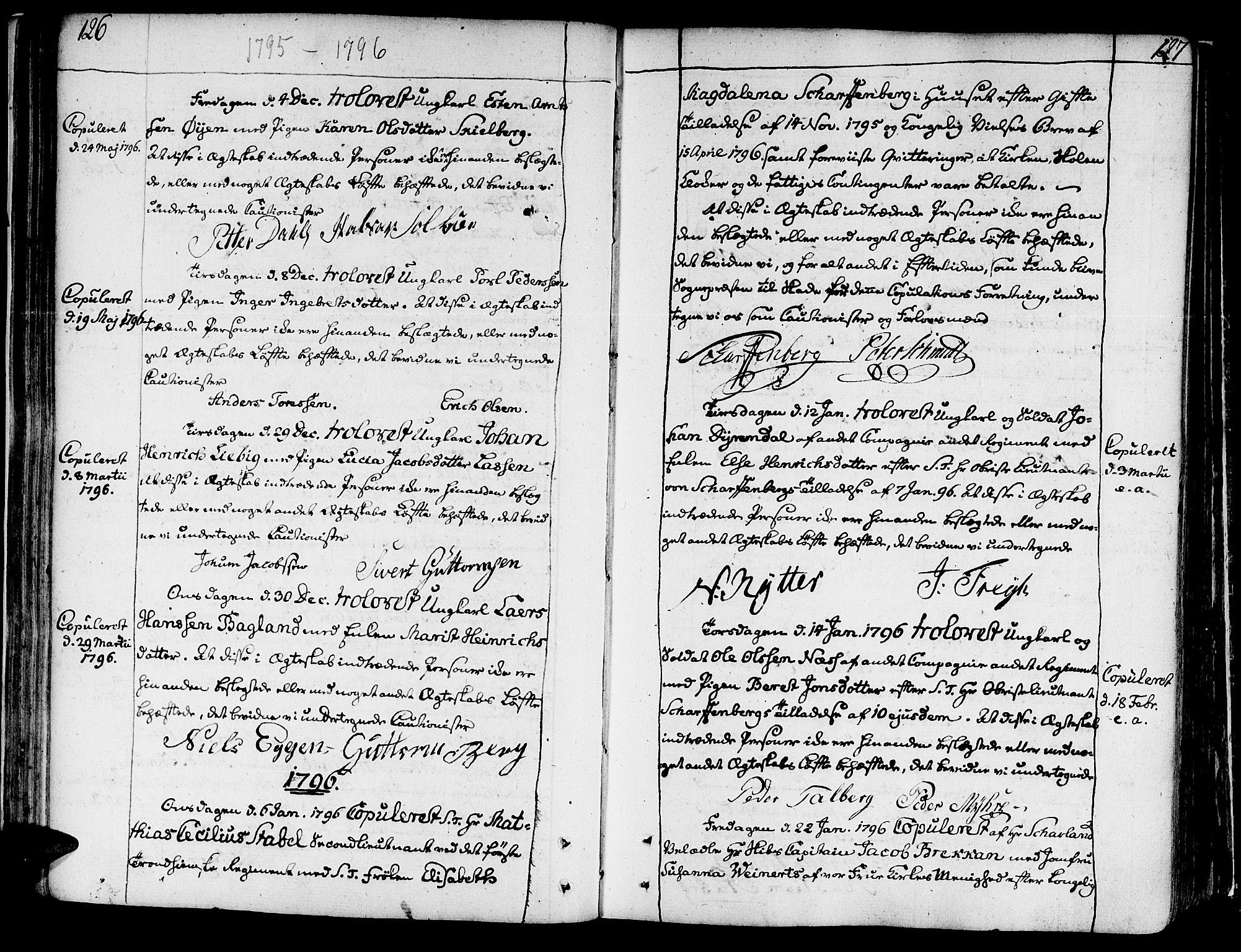 SAT, Ministerialprotokoller, klokkerbøker og fødselsregistre - Sør-Trøndelag, 602/L0105: Ministerialbok nr. 602A03, 1774-1814, s. 126-127