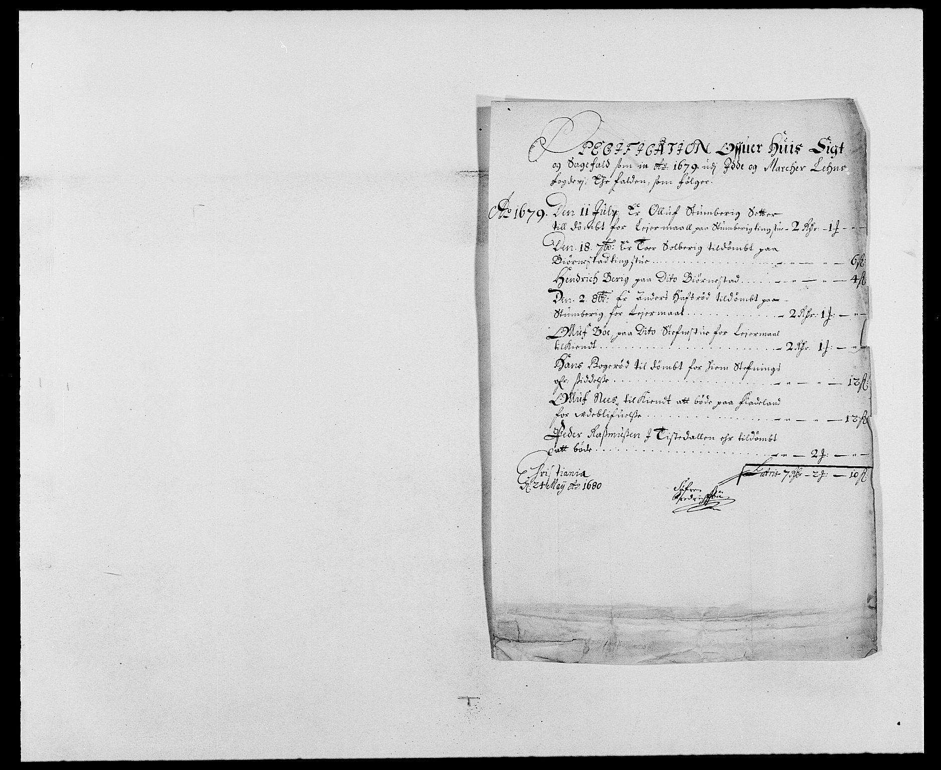 RA, Rentekammeret inntil 1814, Reviderte regnskaper, Fogderegnskap, R01/L0001: Fogderegnskap Idd og Marker, 1678-1679, s. 310