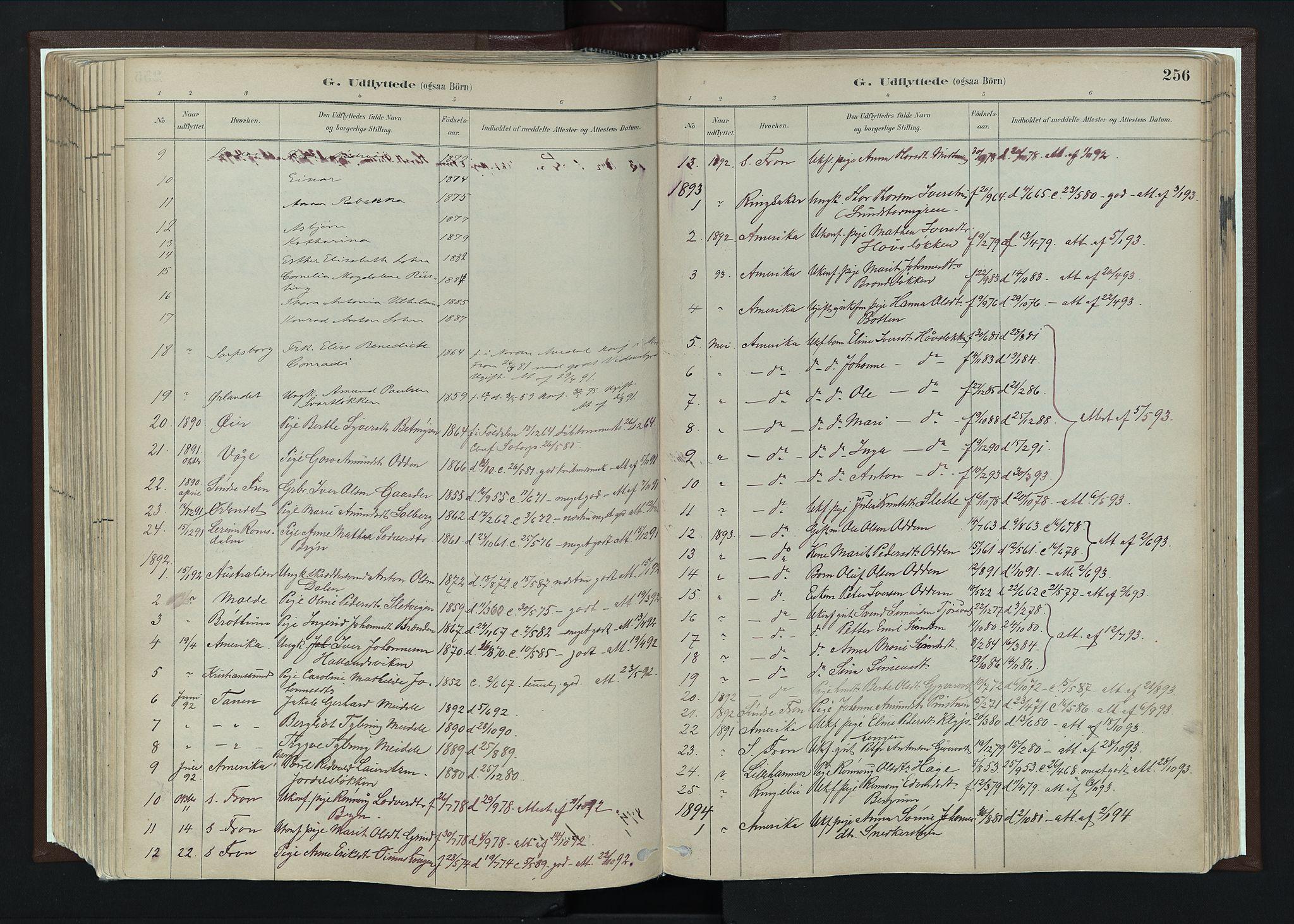 SAH, Nord-Fron prestekontor, Ministerialbok nr. 4, 1884-1914, s. 256
