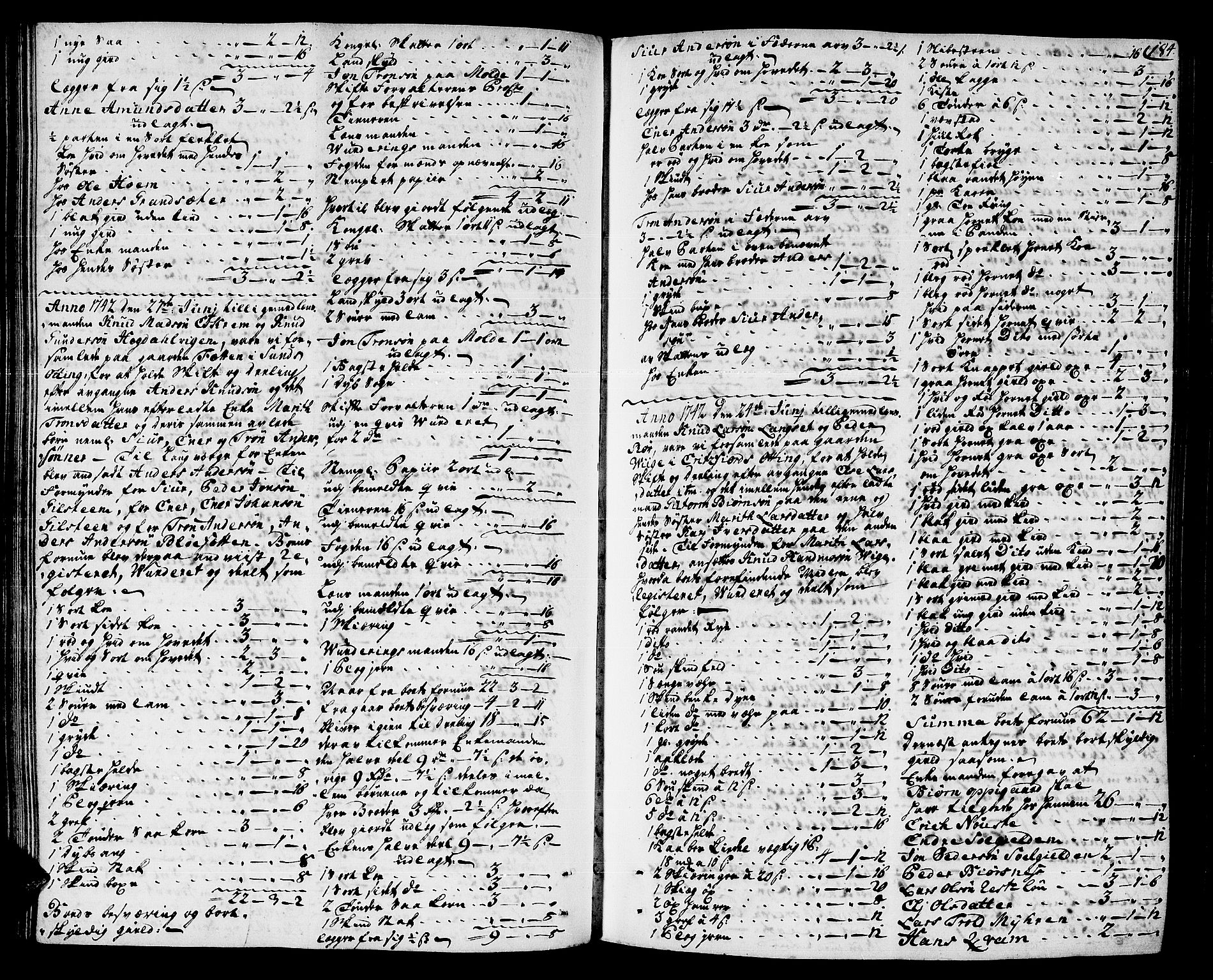 SAT, Romsdal sorenskriveri, 3/3A/L0007: Skifteprotokoll, 1740-1751, s. 183b-184a