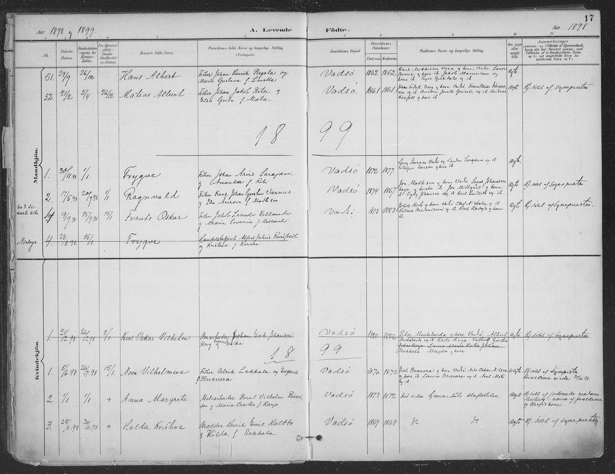 SATØ, Vadsø sokneprestkontor, H/Ha/L0007kirke: Ministerialbok nr. 7, 1896-1916, s. 17