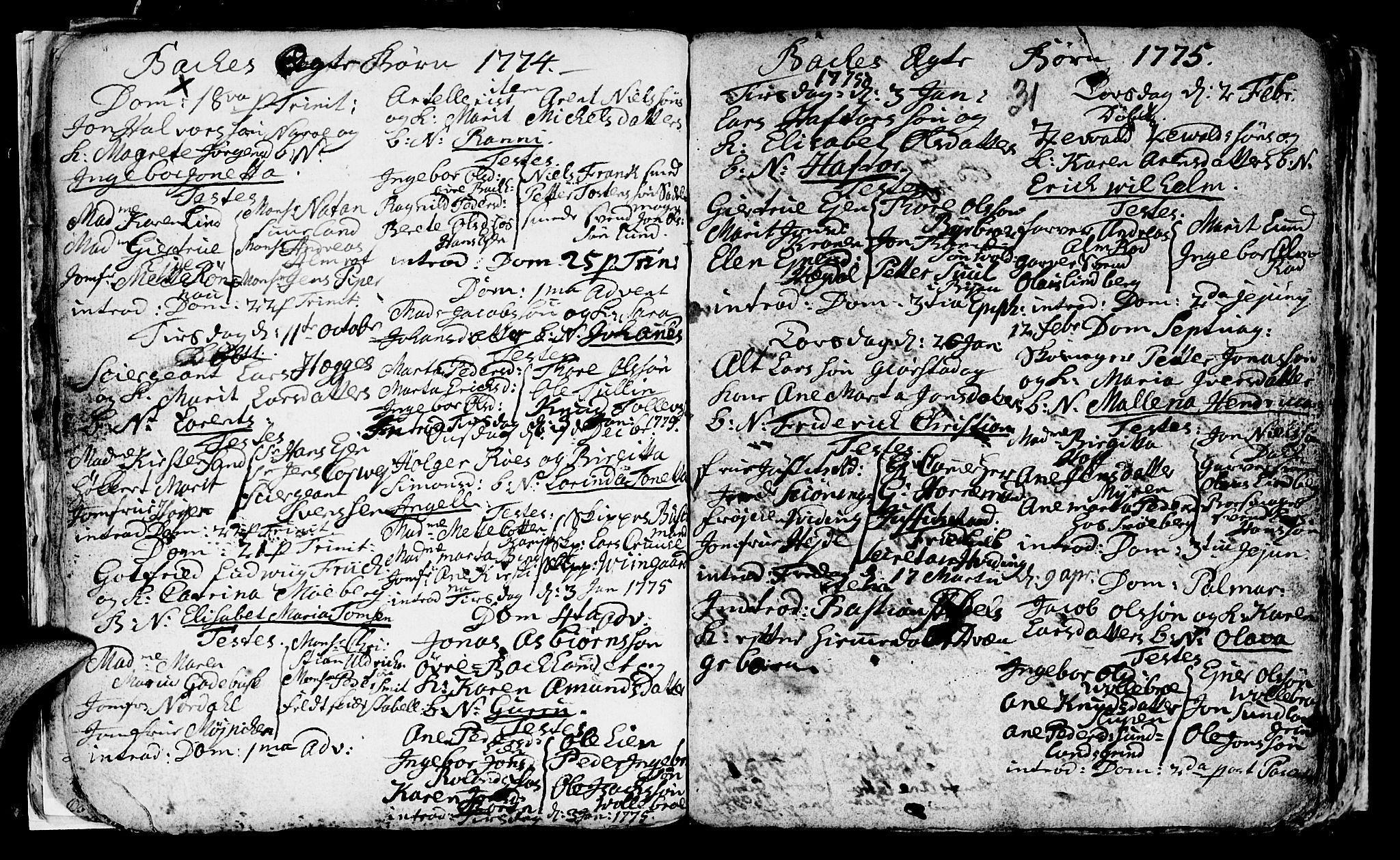 SAT, Ministerialprotokoller, klokkerbøker og fødselsregistre - Sør-Trøndelag, 604/L0218: Klokkerbok nr. 604C01, 1754-1819, s. 31