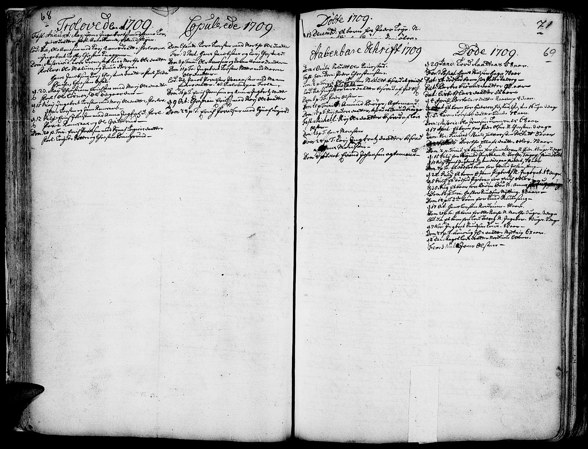 SAH, Ringebu prestekontor, Ministerialbok nr. 1, 1696-1733, s. 68-69