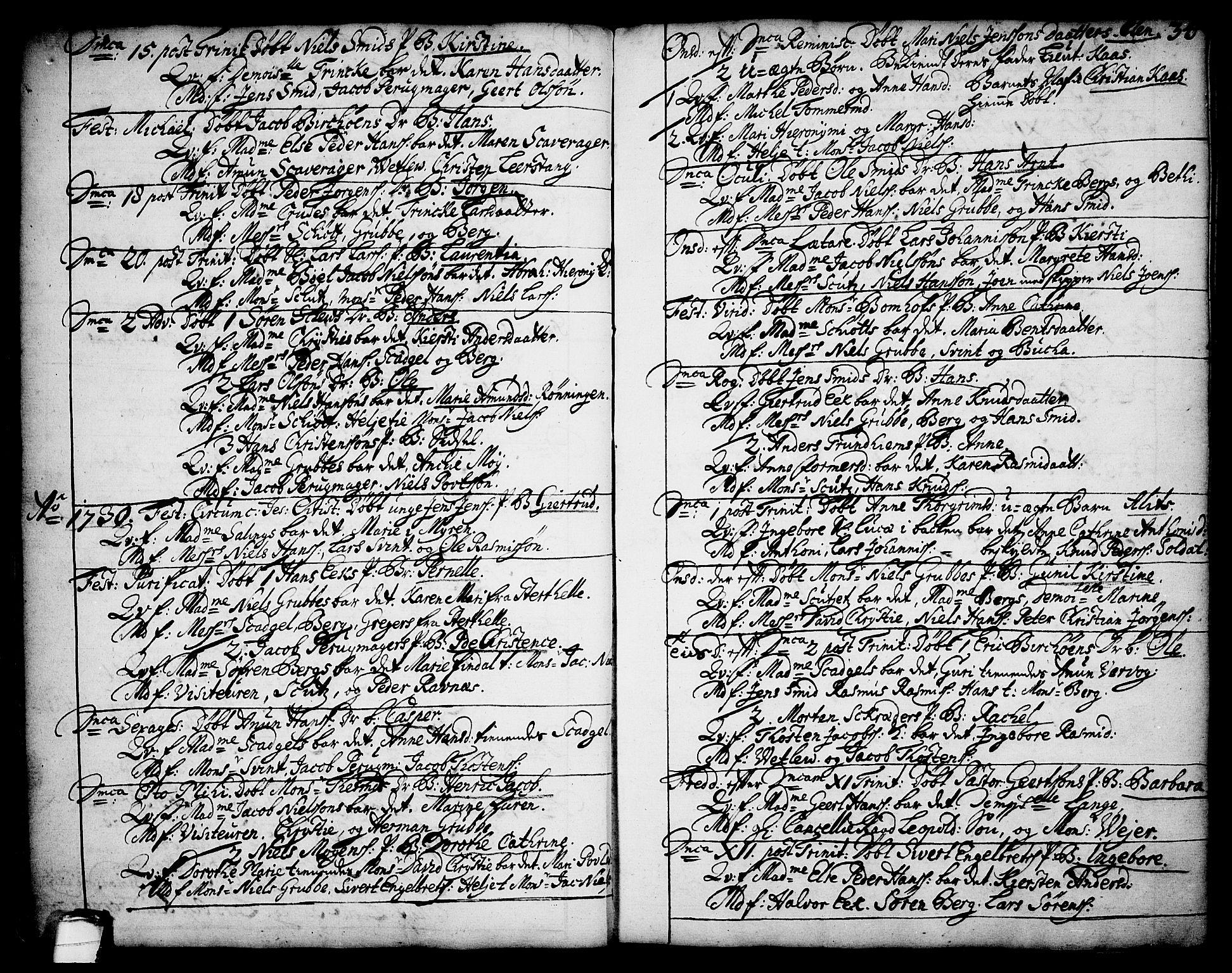 SAKO, Brevik kirkebøker, F/Fa/L0002: Ministerialbok nr. 2, 1720-1764, s. 34a