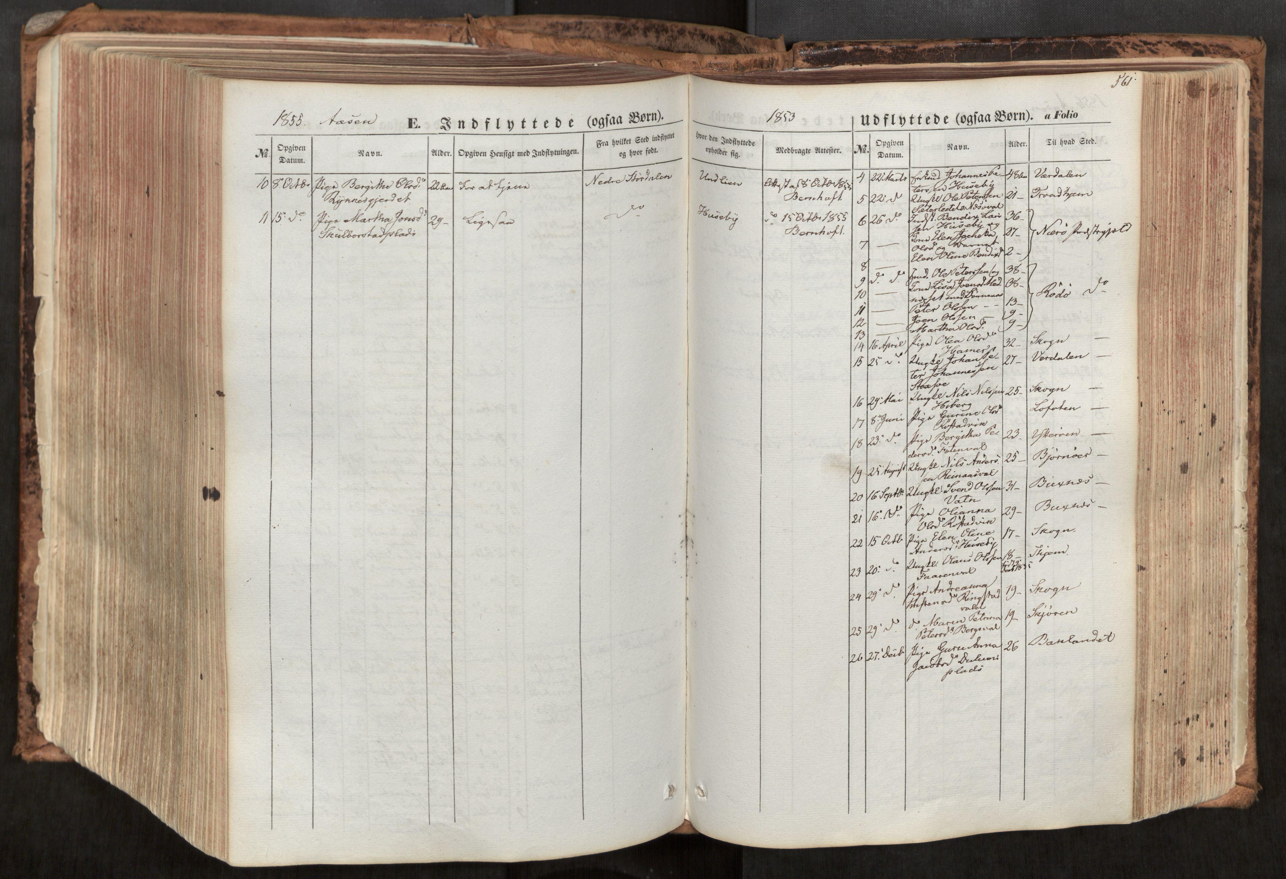SAT, Ministerialprotokoller, klokkerbøker og fødselsregistre - Nord-Trøndelag, 713/L0116: Ministerialbok nr. 713A07, 1850-1877, s. 561