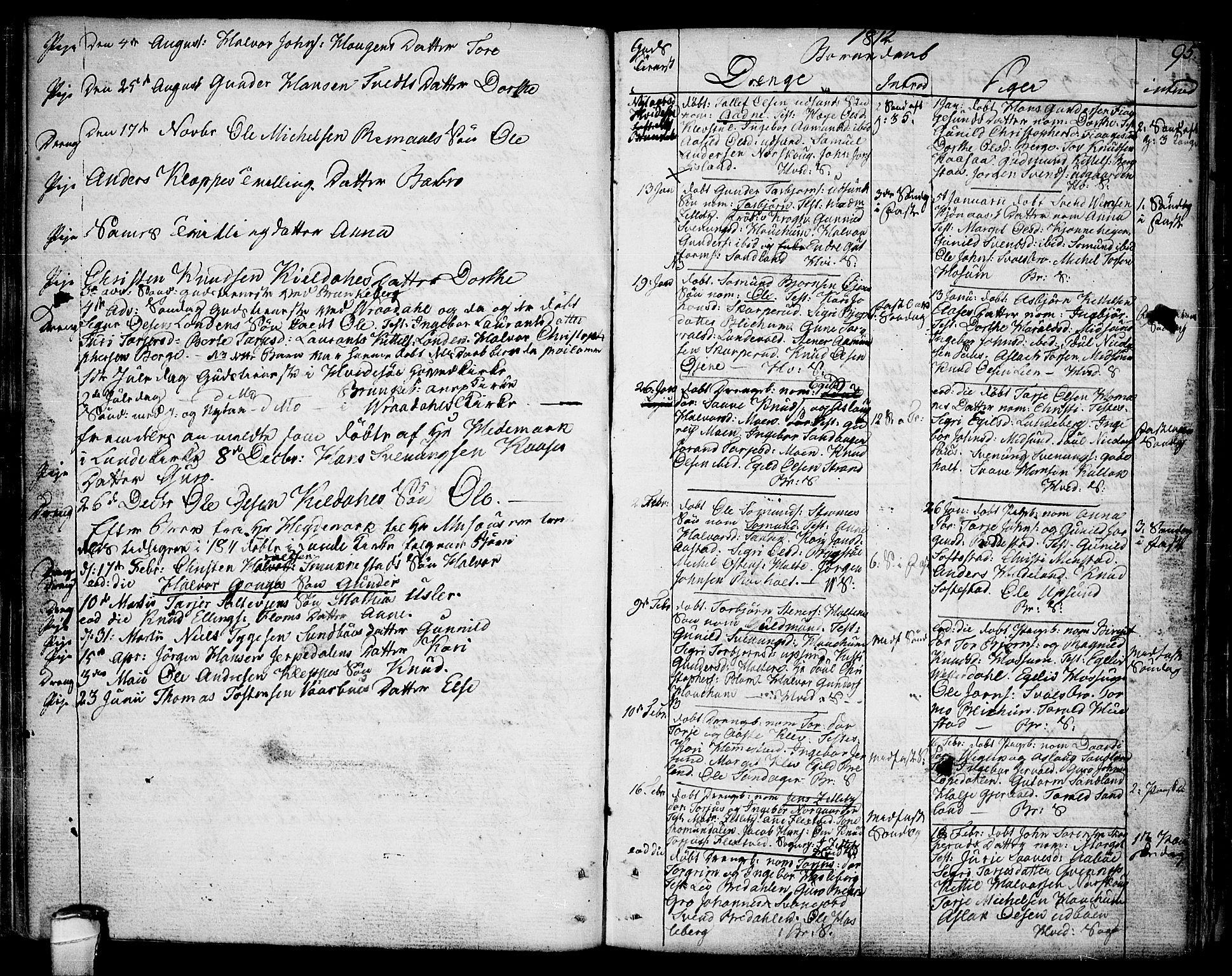 SAKO, Kviteseid kirkebøker, F/Fa/L0004: Ministerialbok nr. I 4, 1800-1814, s. 95