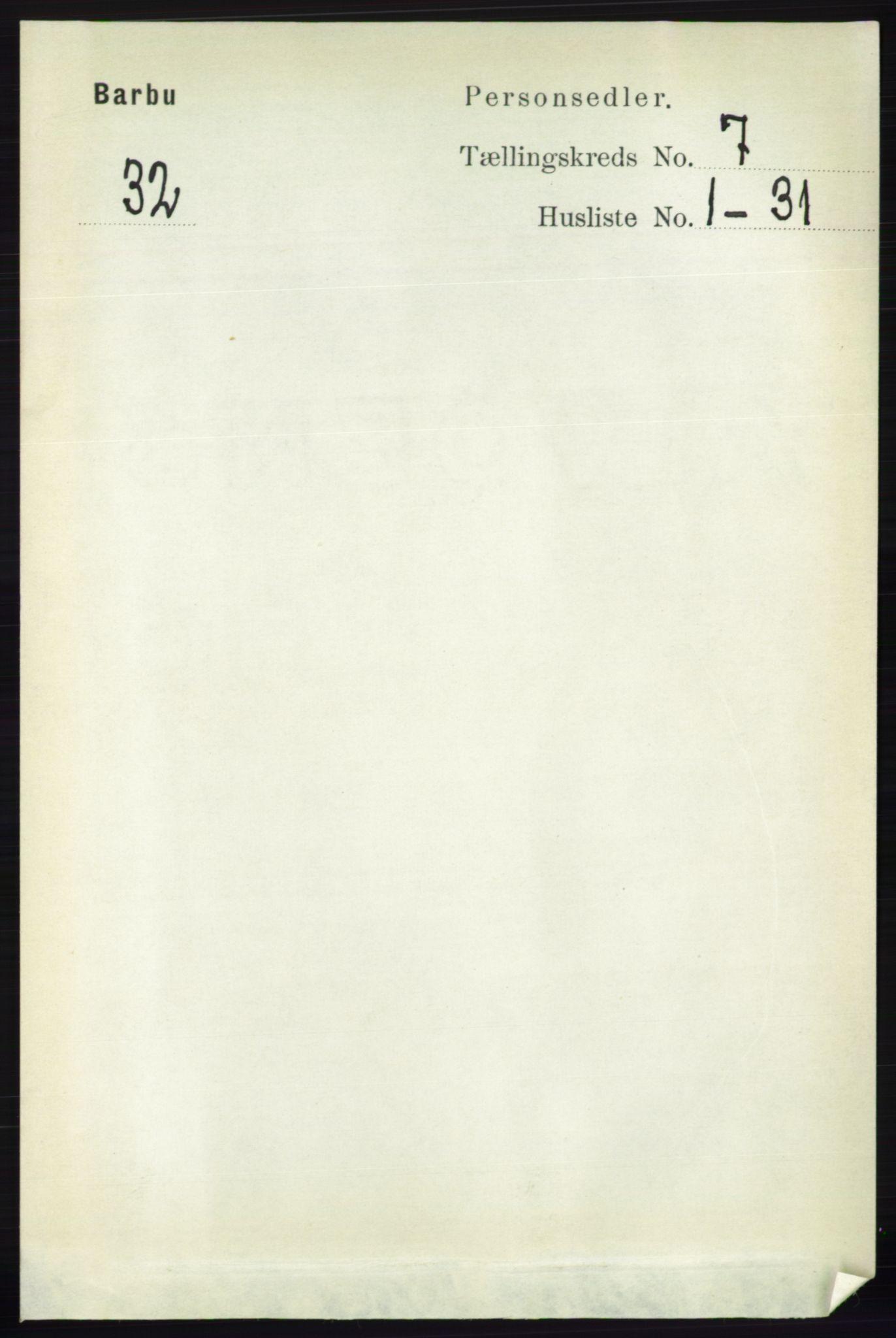 RA, Folketelling 1891 for 0990 Barbu herred, 1891, s. 5048