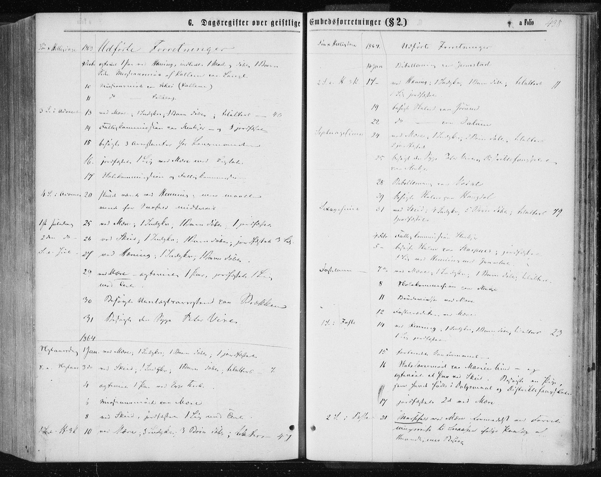 SAT, Ministerialprotokoller, klokkerbøker og fødselsregistre - Nord-Trøndelag, 735/L0345: Ministerialbok nr. 735A08 /1, 1863-1872, s. 438