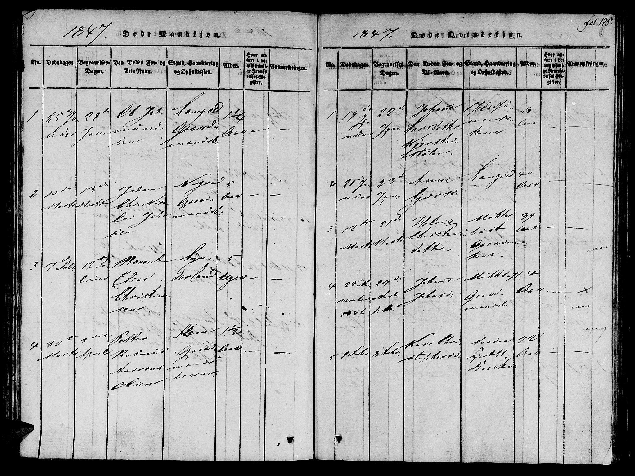 SAT, Ministerialprotokoller, klokkerbøker og fødselsregistre - Møre og Romsdal, 536/L0495: Ministerialbok nr. 536A04, 1818-1847, s. 125