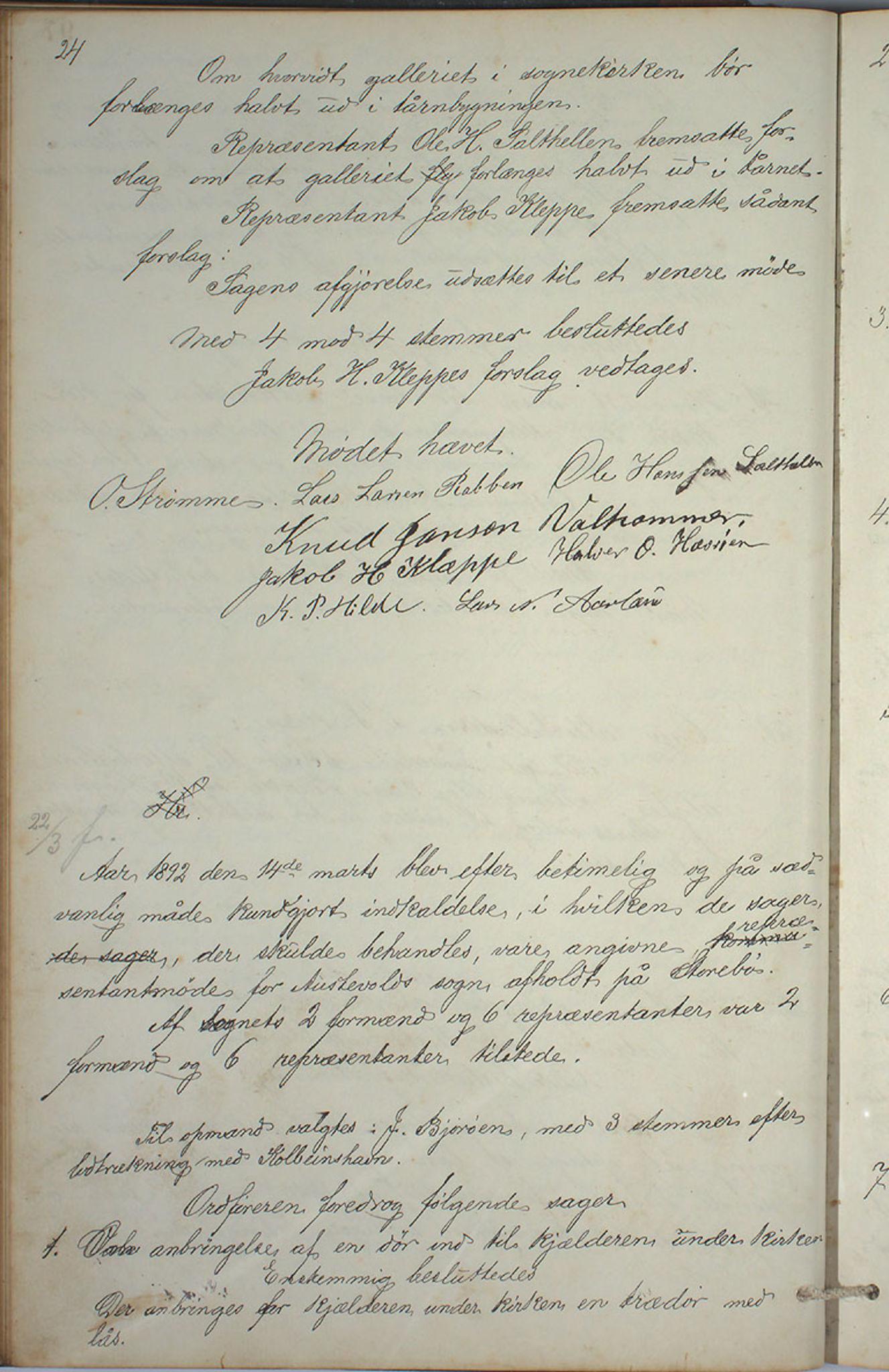 IKAH, Austevoll kommune. Formannskapet, A/Aa/L0001: Østervolds Herredsforhandlings-protokoll, 1886-1900, s. 195