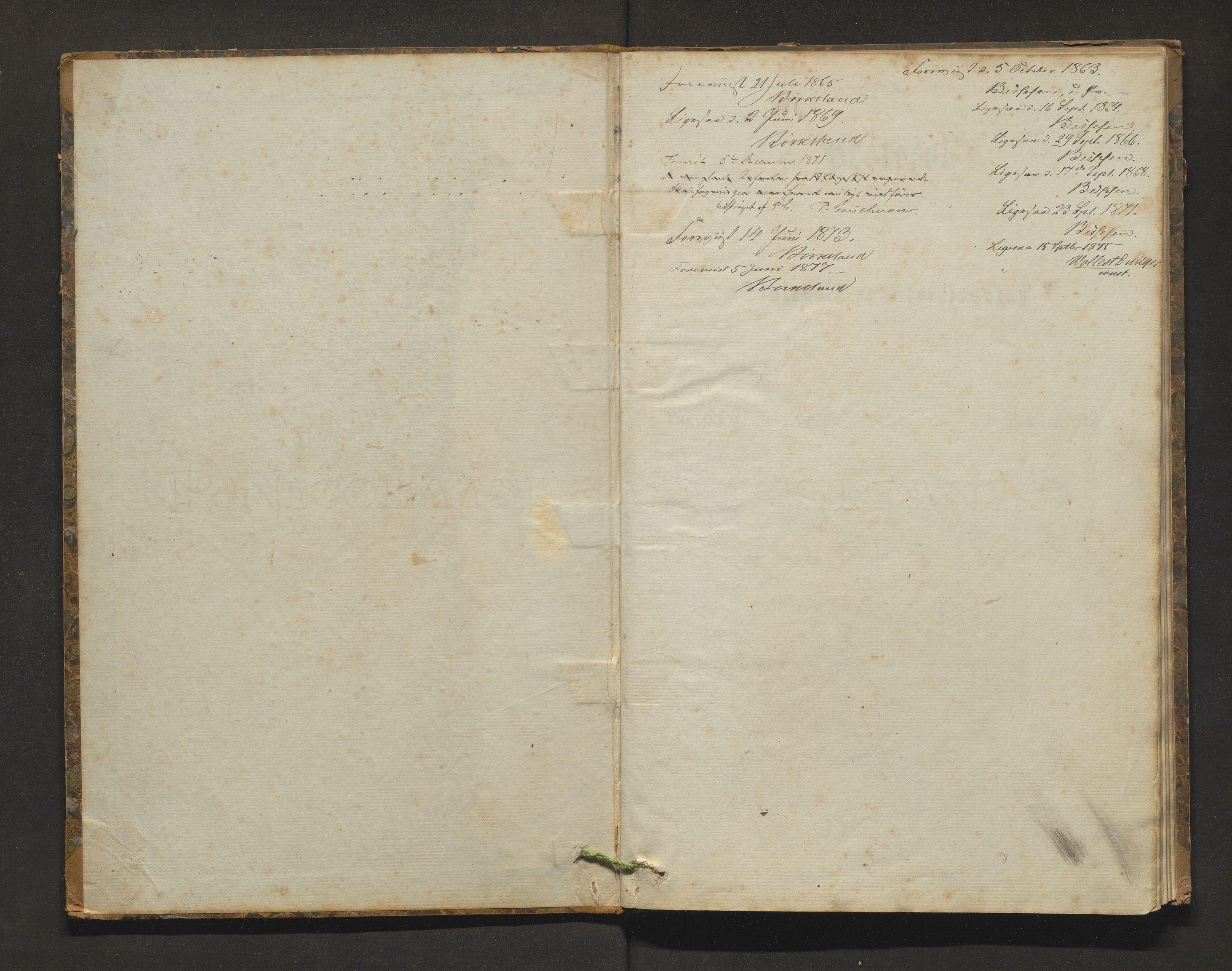 IKAH, Fitjar kommune. Barneskulane, F/Fa/L0006: Skuleprotokoll for Rimbereid krins i Fitje prestegjeld, 1863-1877