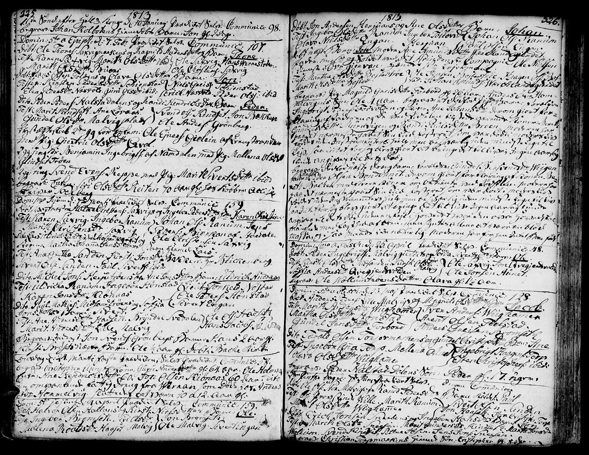 SAT, Ministerialprotokoller, klokkerbøker og fødselsregistre - Sør-Trøndelag, 606/L0281: Ministerialbok nr. 606A02 /2, 1781-1817, s. 325-326