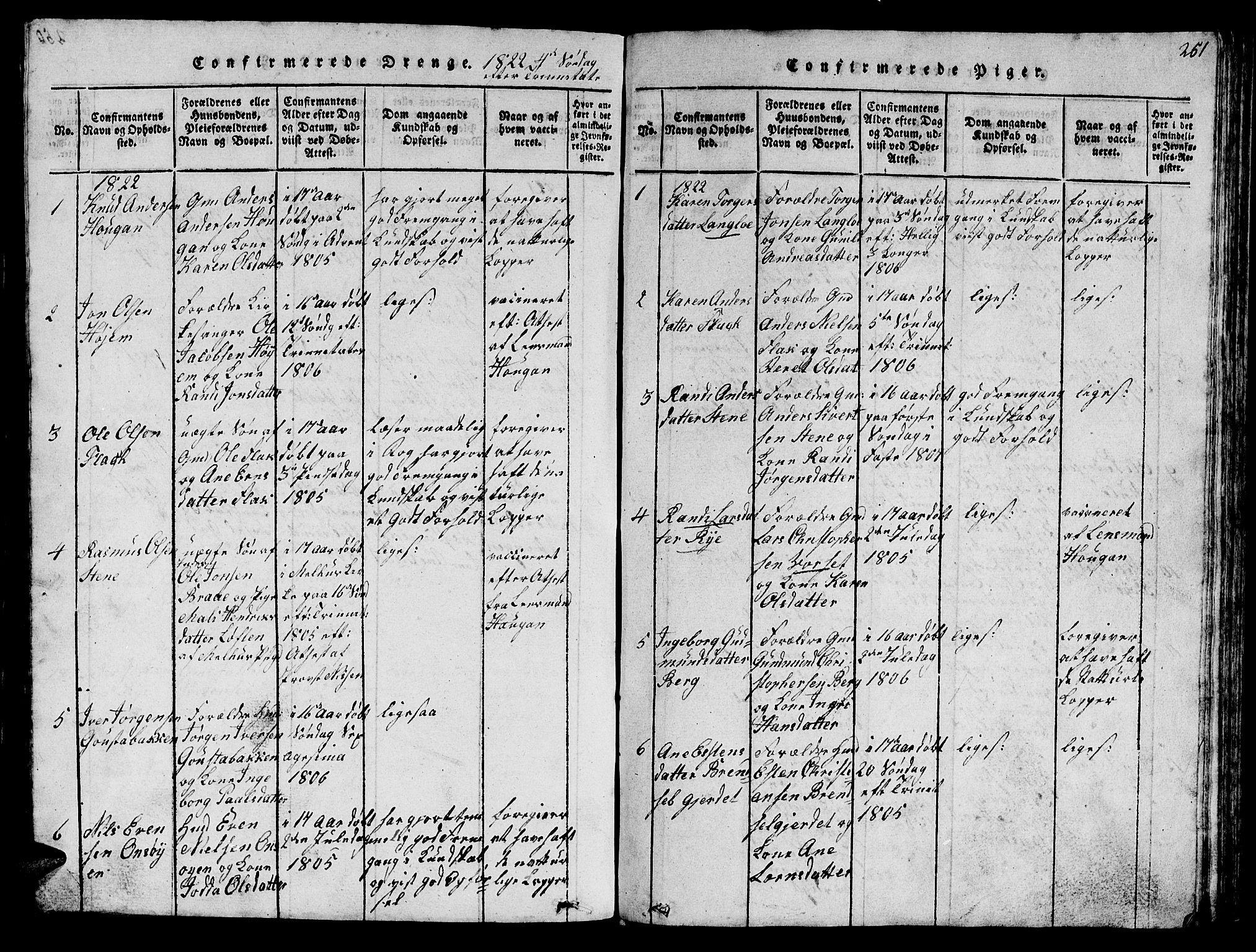 SAT, Ministerialprotokoller, klokkerbøker og fødselsregistre - Sør-Trøndelag, 612/L0385: Klokkerbok nr. 612C01, 1816-1845, s. 251