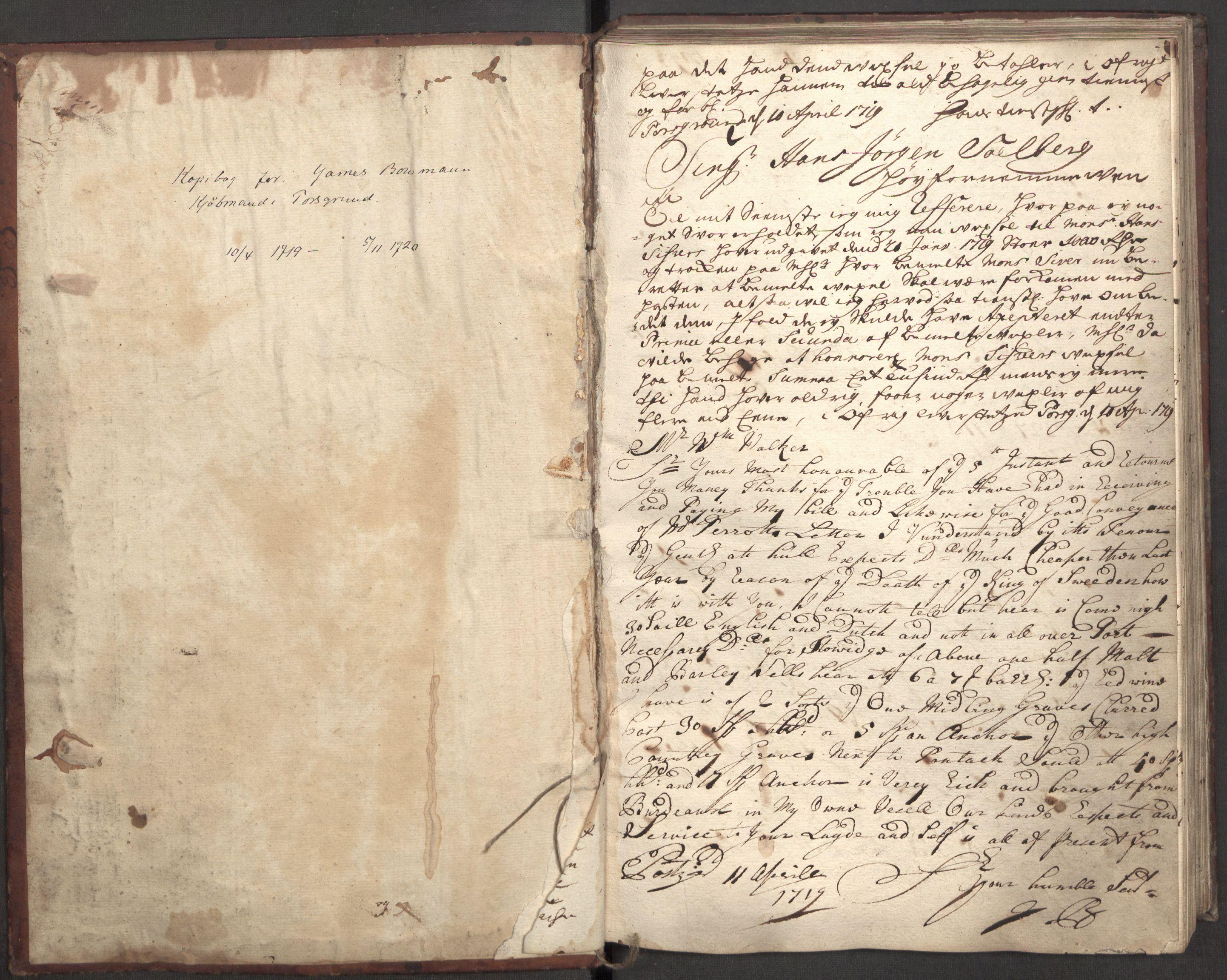 RA, Bowman, James, B/L0001, 1719-1720, s. 3