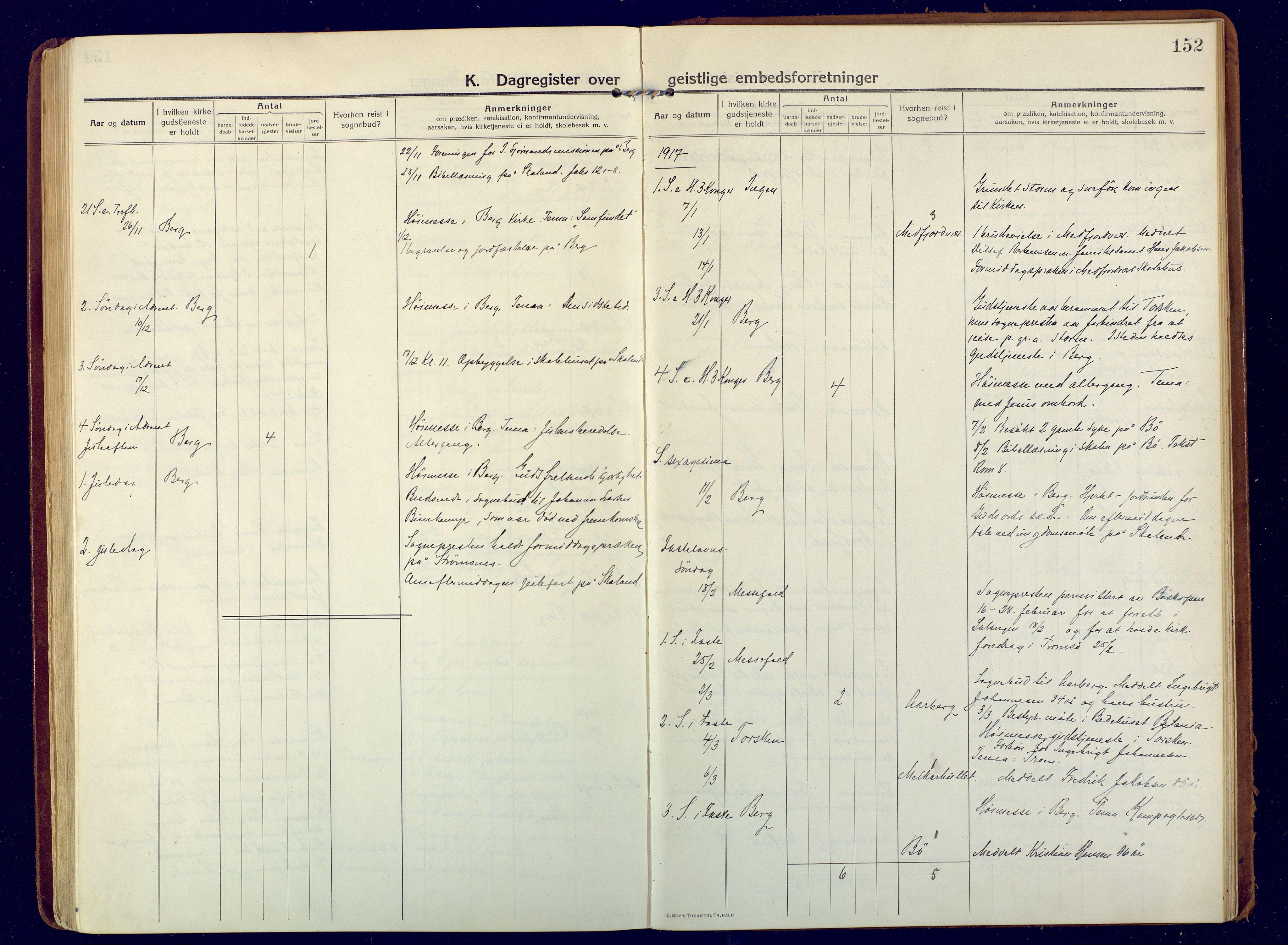SATØ, Mefjord/Berg sokneprestkontor, G/Ga/Gaa: Ministerialbok nr. 9, 1916-1928, s. 152