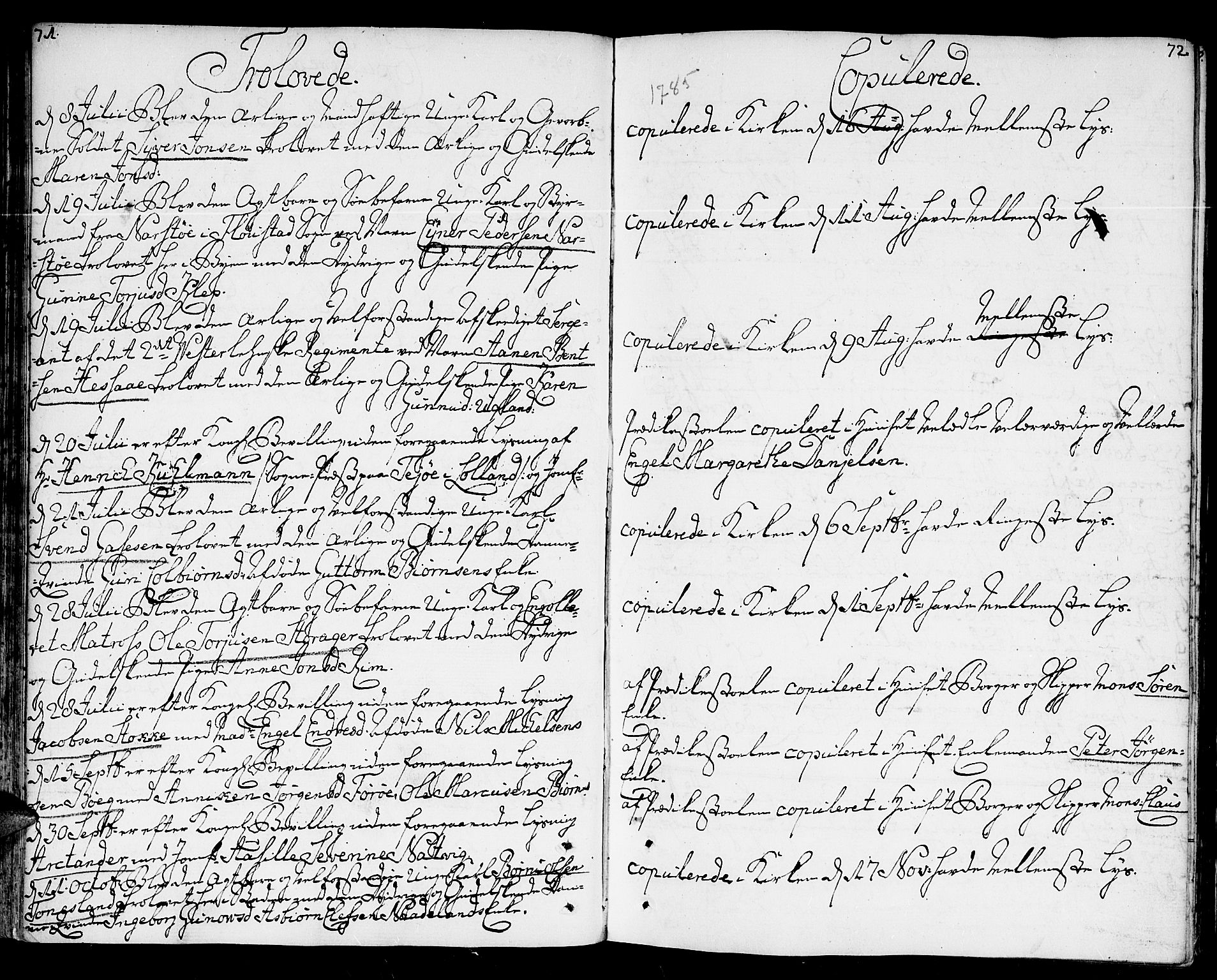 SAK, Kristiansand domprosti, F/Fa/L0005: Ministerialbok nr. A 5, 1776-1818, s. 71-72