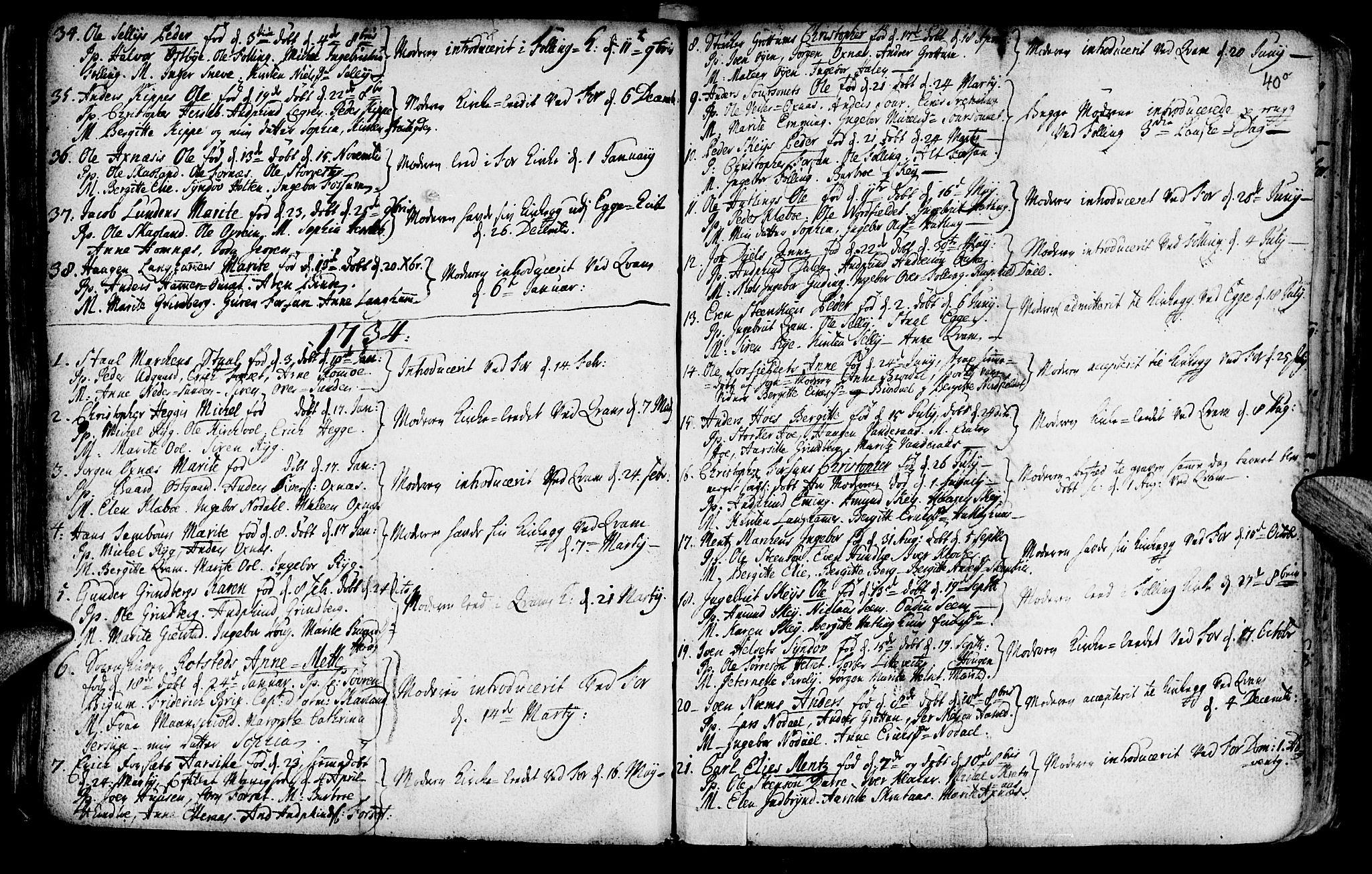 SAT, Ministerialprotokoller, klokkerbøker og fødselsregistre - Nord-Trøndelag, 746/L0439: Ministerialbok nr. 746A01, 1688-1759, s. 40o