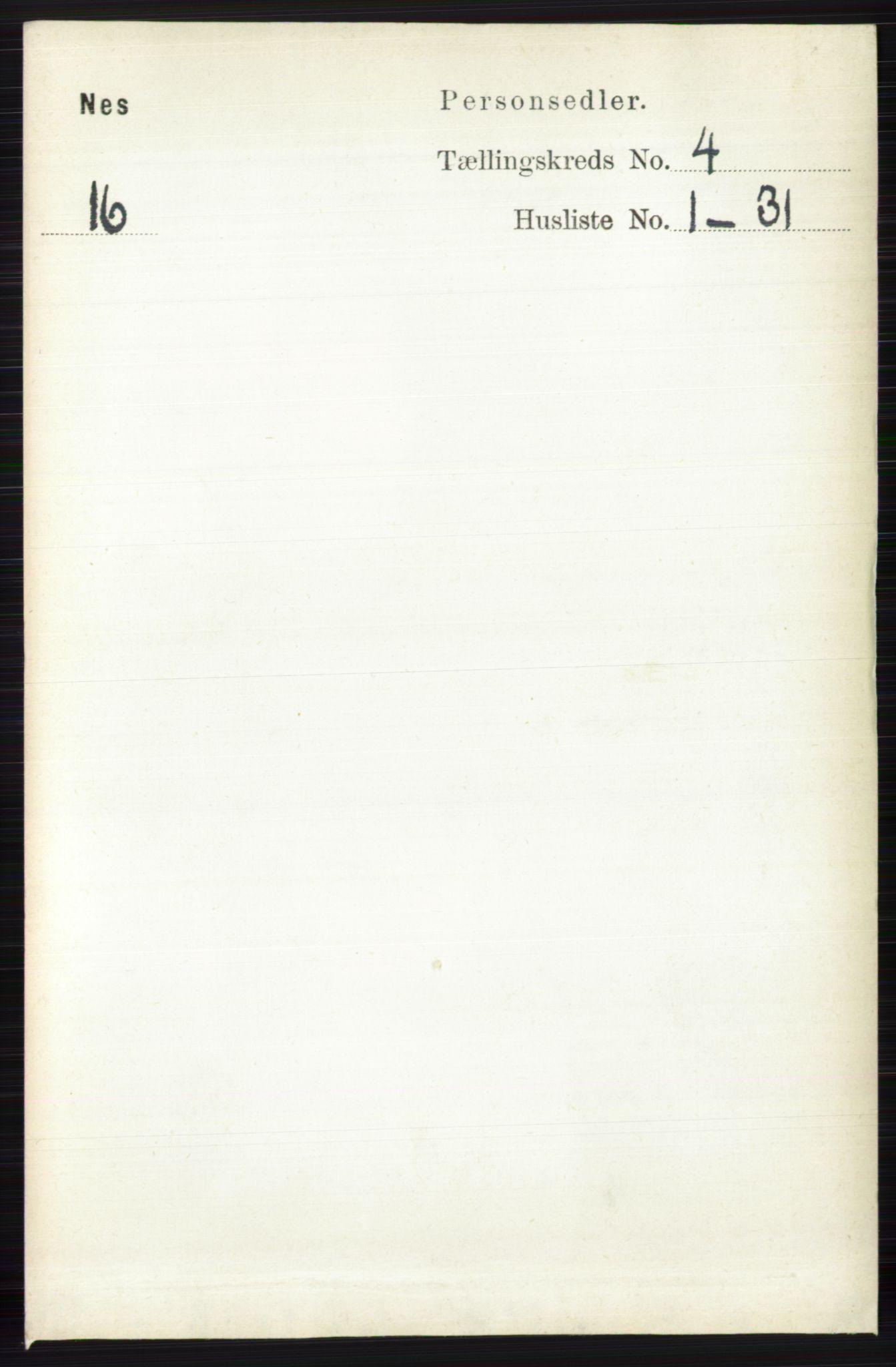 RA, Folketelling 1891 for 0616 Nes herred, 1891, s. 2112