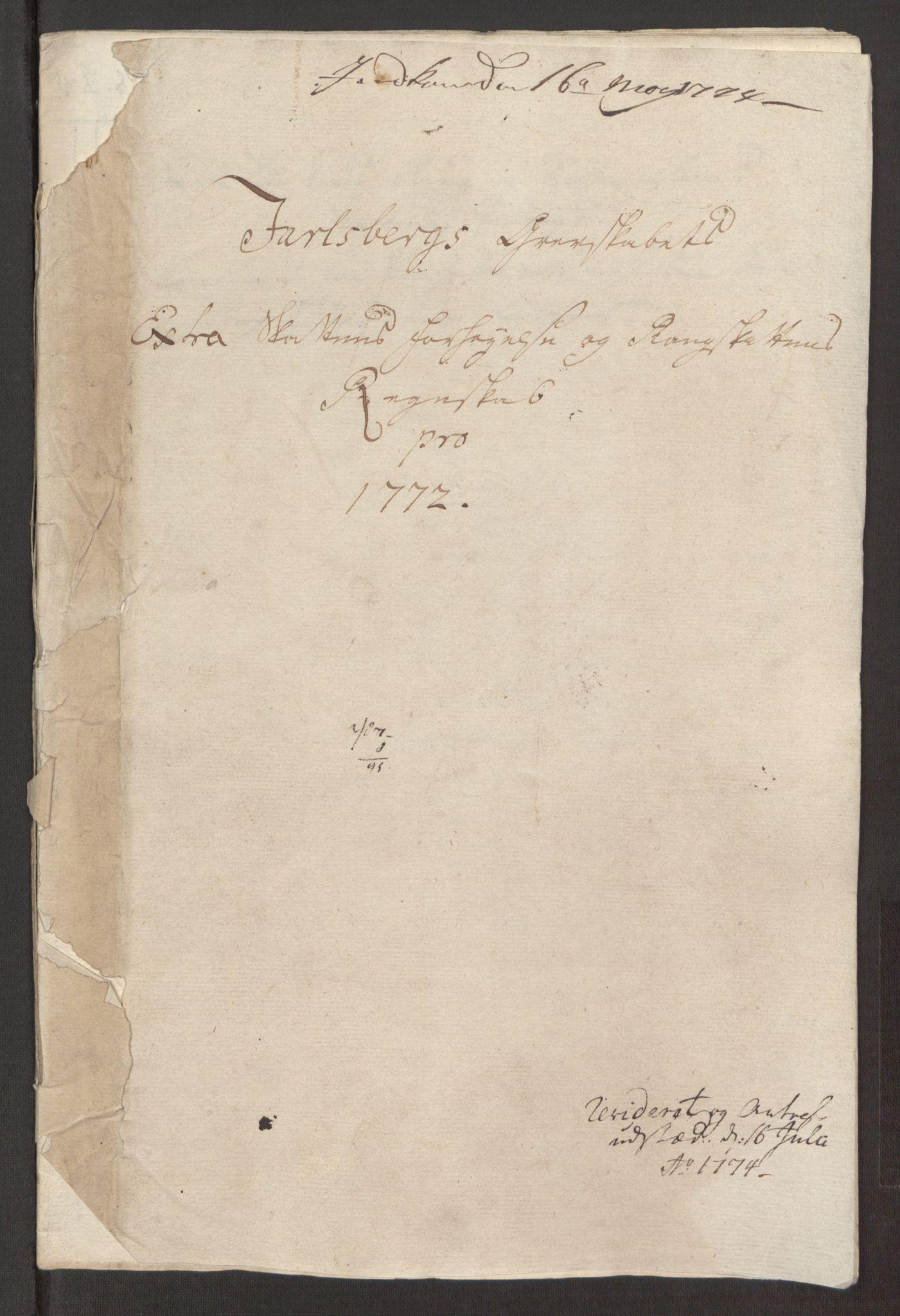 RA, Rentekammeret inntil 1814, Reviderte regnskaper, Fogderegnskap, R32/L1960: Ekstraskatten Jarlsberg grevskap, 1762-1772, s. 219