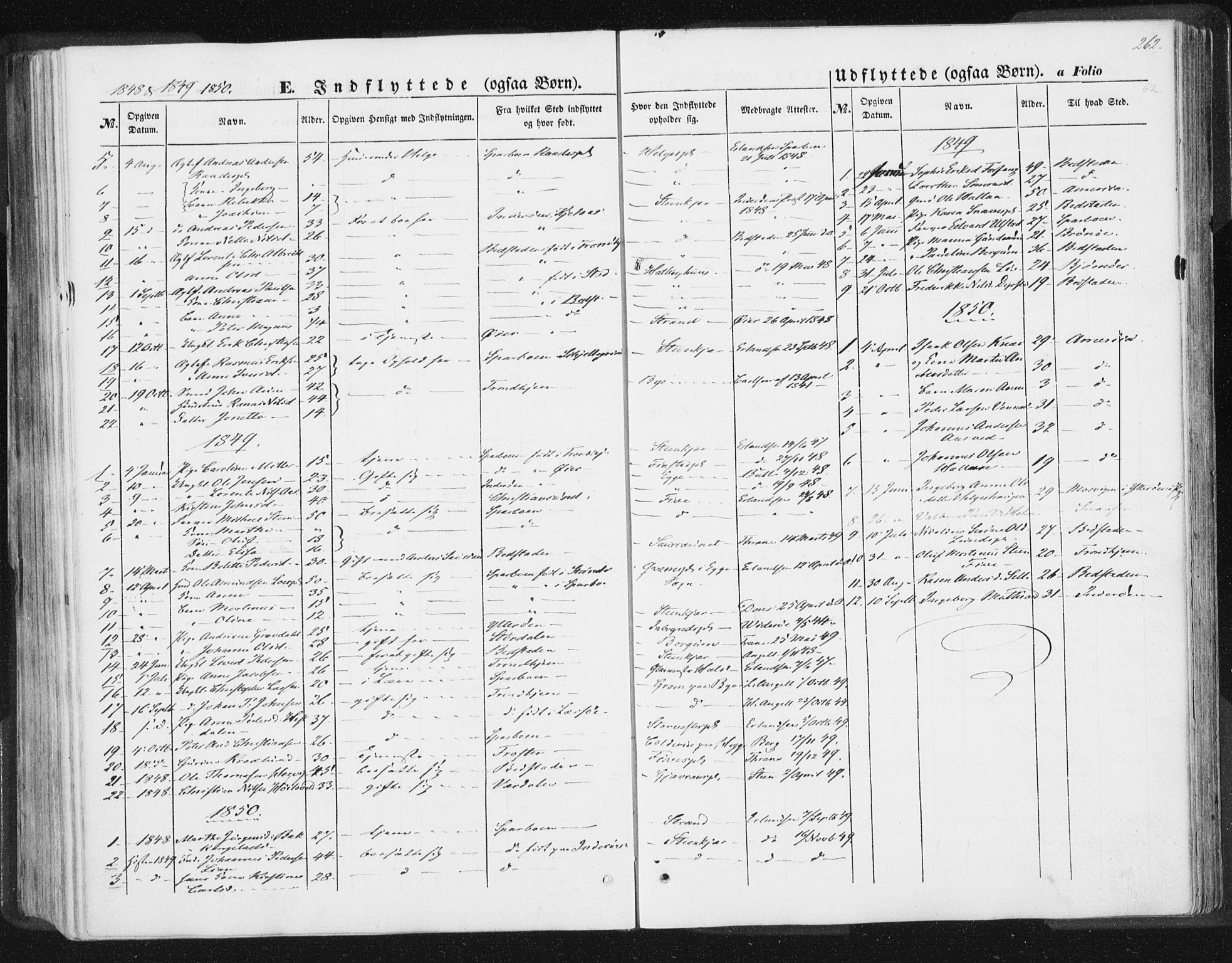 SAT, Ministerialprotokoller, klokkerbøker og fødselsregistre - Nord-Trøndelag, 746/L0446: Ministerialbok nr. 746A05, 1846-1859, s. 262