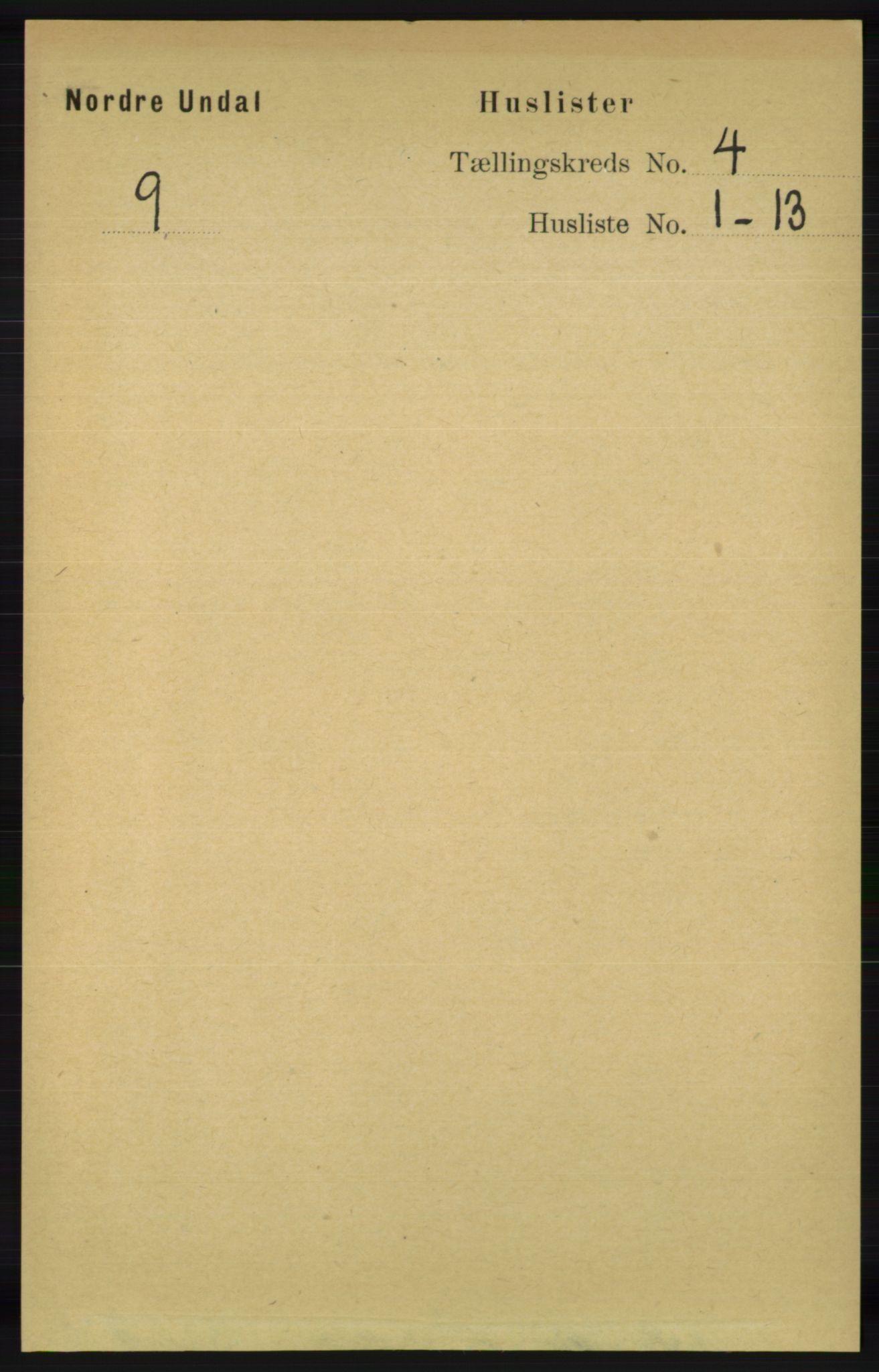 RA, Folketelling 1891 for 1028 Nord-Audnedal herred, 1891, s. 1079