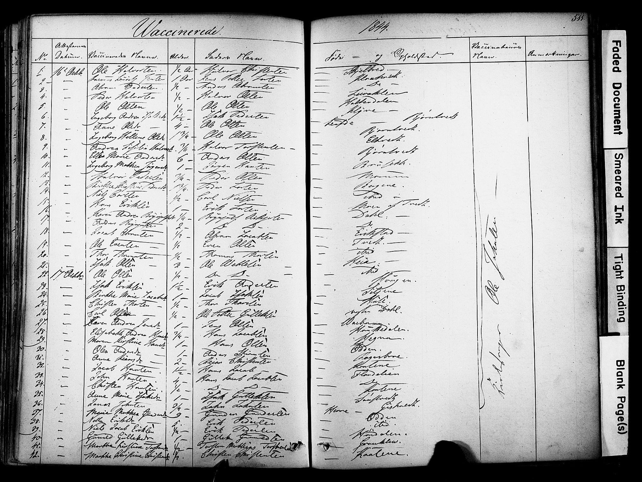 SAKO, Solum kirkebøker, F/Fa/L0006: Ministerialbok nr. I 6, 1844-1855, s. 511