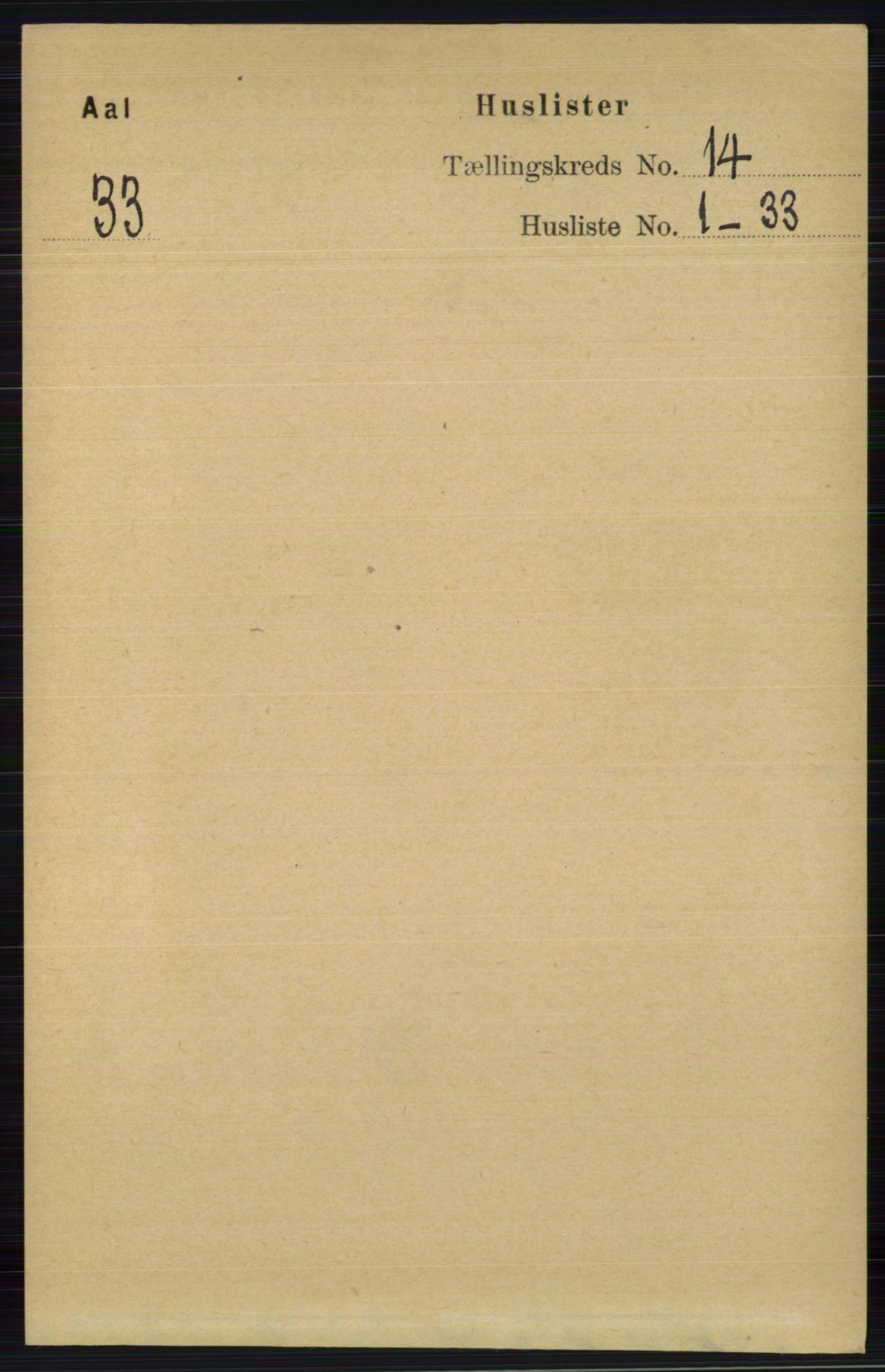 RA, Folketelling 1891 for 0619 Ål herred, 1891, s. 3507