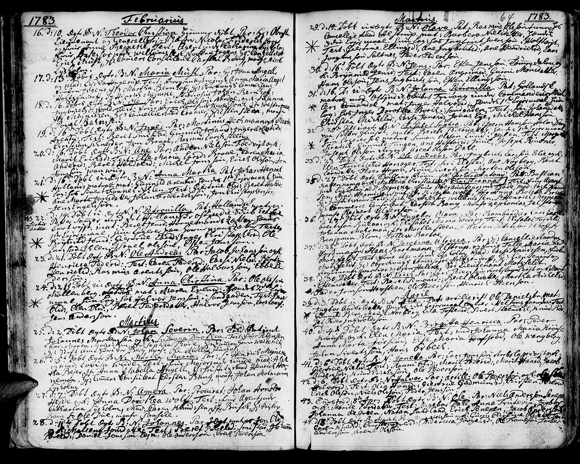 SAT, Ministerialprotokoller, klokkerbøker og fødselsregistre - Sør-Trøndelag, 601/L0039: Ministerialbok nr. 601A07, 1770-1819, s. 64
