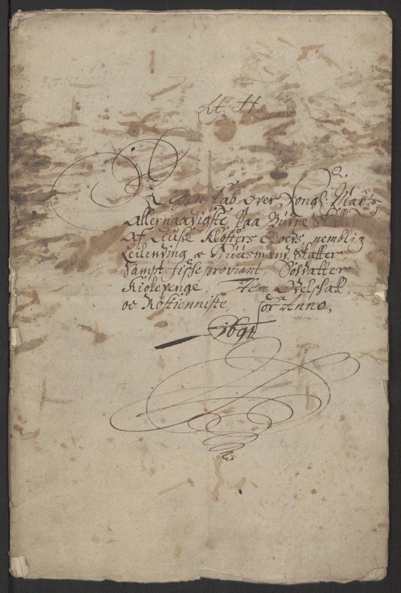 RA, Rentekammeret inntil 1814, Reviderte regnskaper, Fogderegnskap, R50/L3159: Fogderegnskap Lyse kloster, 1691-1709, s. 24