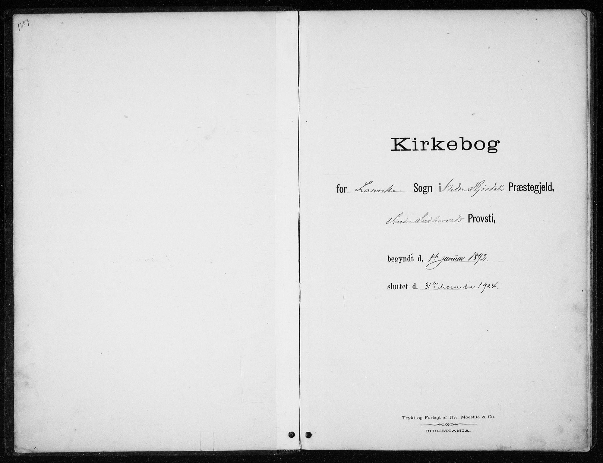 SAT, Ministerialprotokoller, klokkerbøker og fødselsregistre - Nord-Trøndelag, 710/L0096: Klokkerbok nr. 710C01, 1892-1925