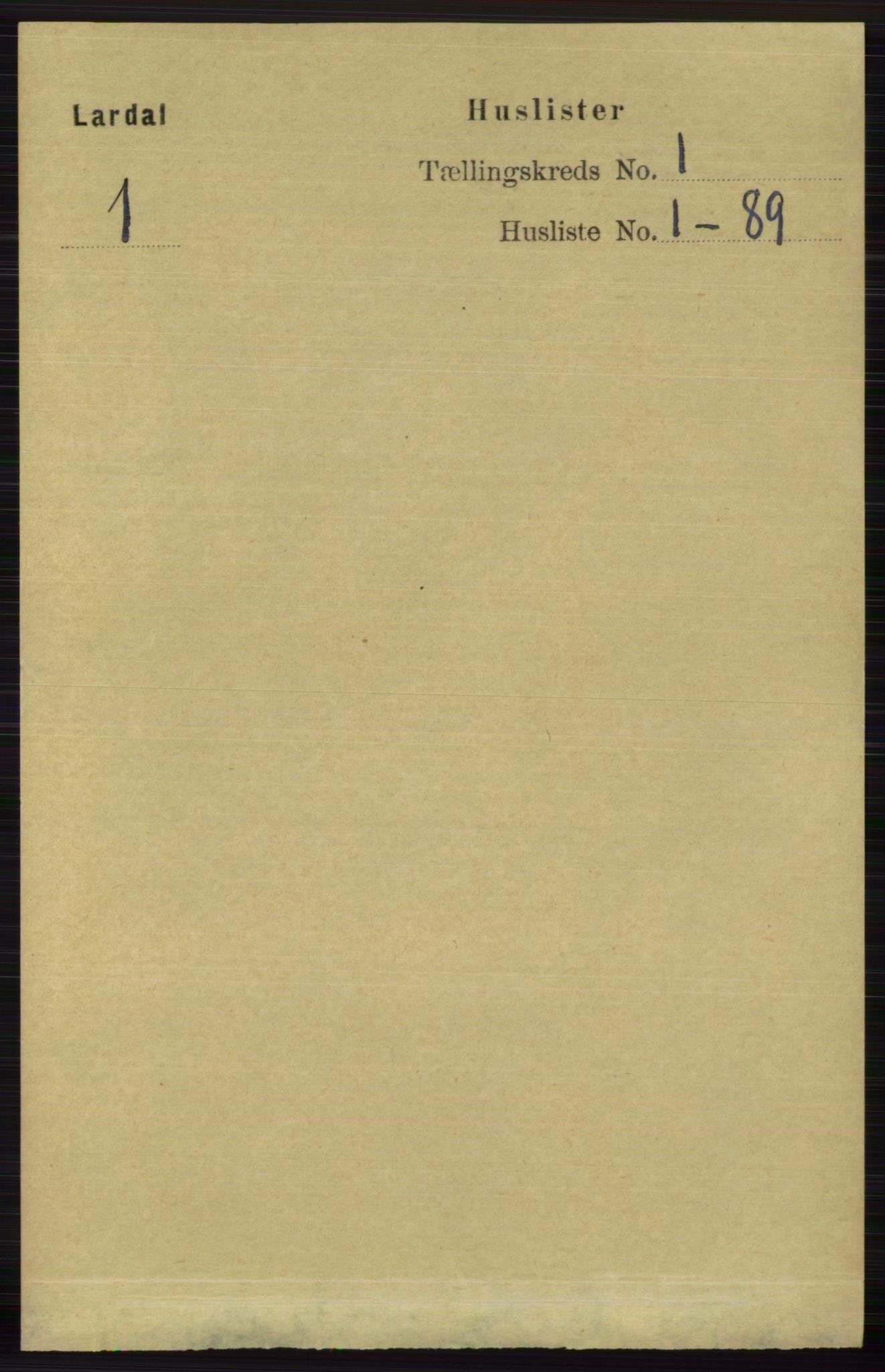 RA, Folketelling 1891 for 0728 Lardal herred, 1891, s. 22
