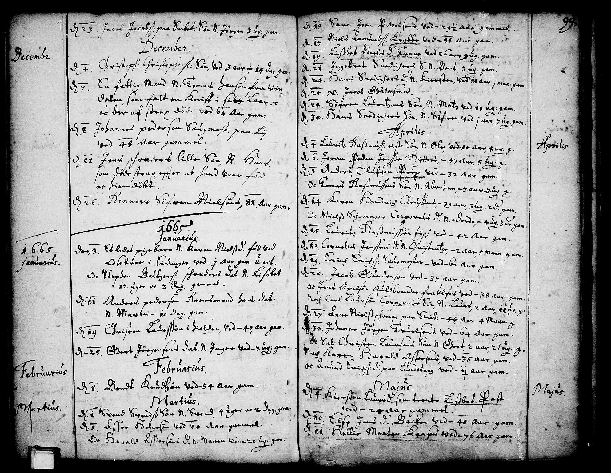 SAKO, Skien kirkebøker, F/Fa/L0001: Ministerialbok nr. 1, 1659-1679, s. 99
