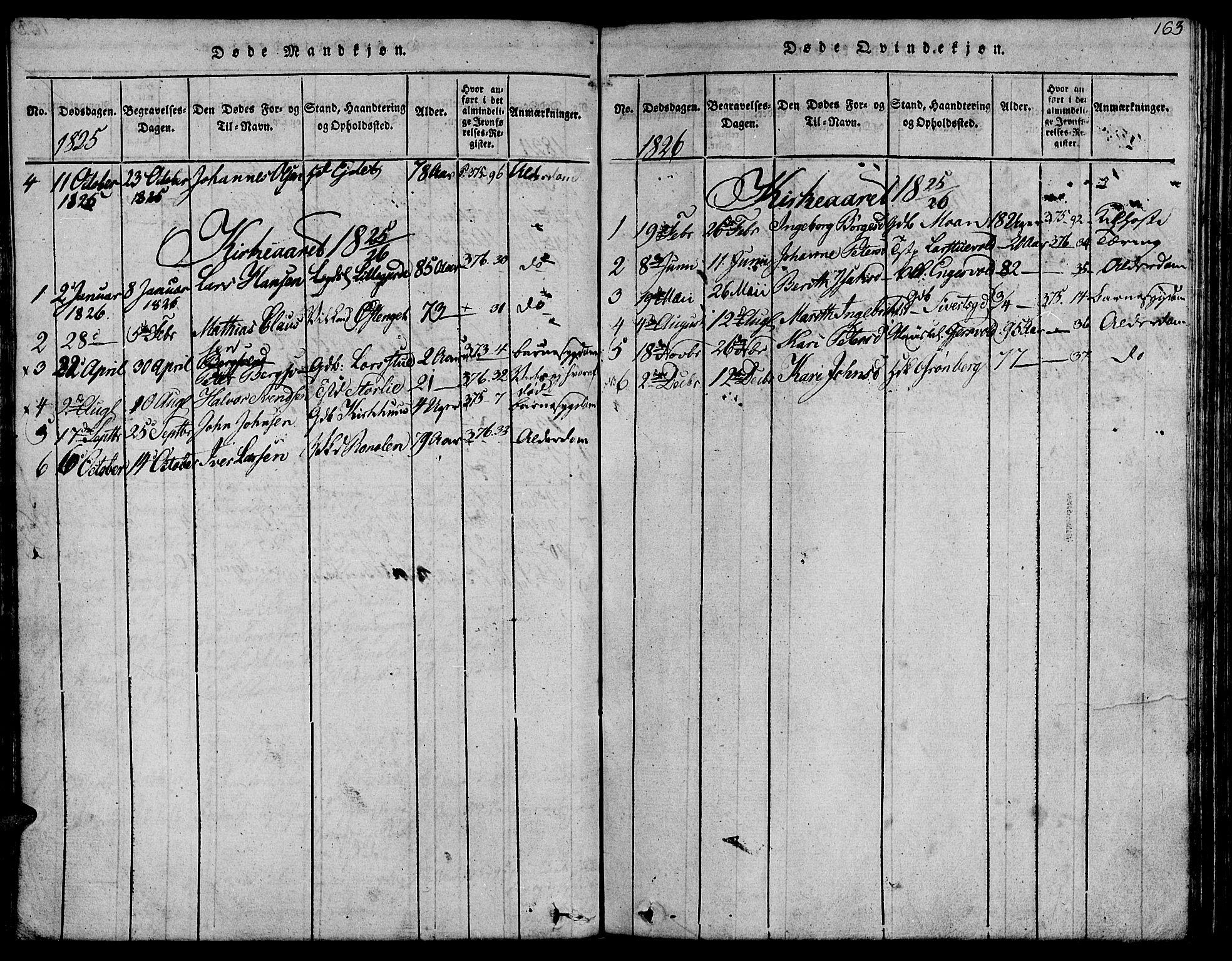SAT, Ministerialprotokoller, klokkerbøker og fødselsregistre - Sør-Trøndelag, 685/L0956: Ministerialbok nr. 685A03 /3, 1817-1829, s. 163