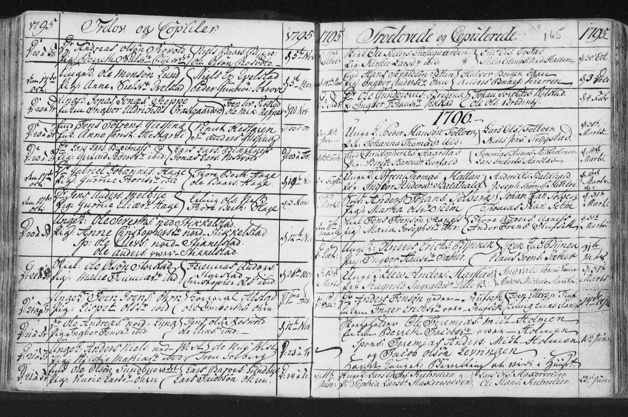 SAT, Ministerialprotokoller, klokkerbøker og fødselsregistre - Nord-Trøndelag, 723/L0232: Ministerialbok nr. 723A03, 1781-1804, s. 165