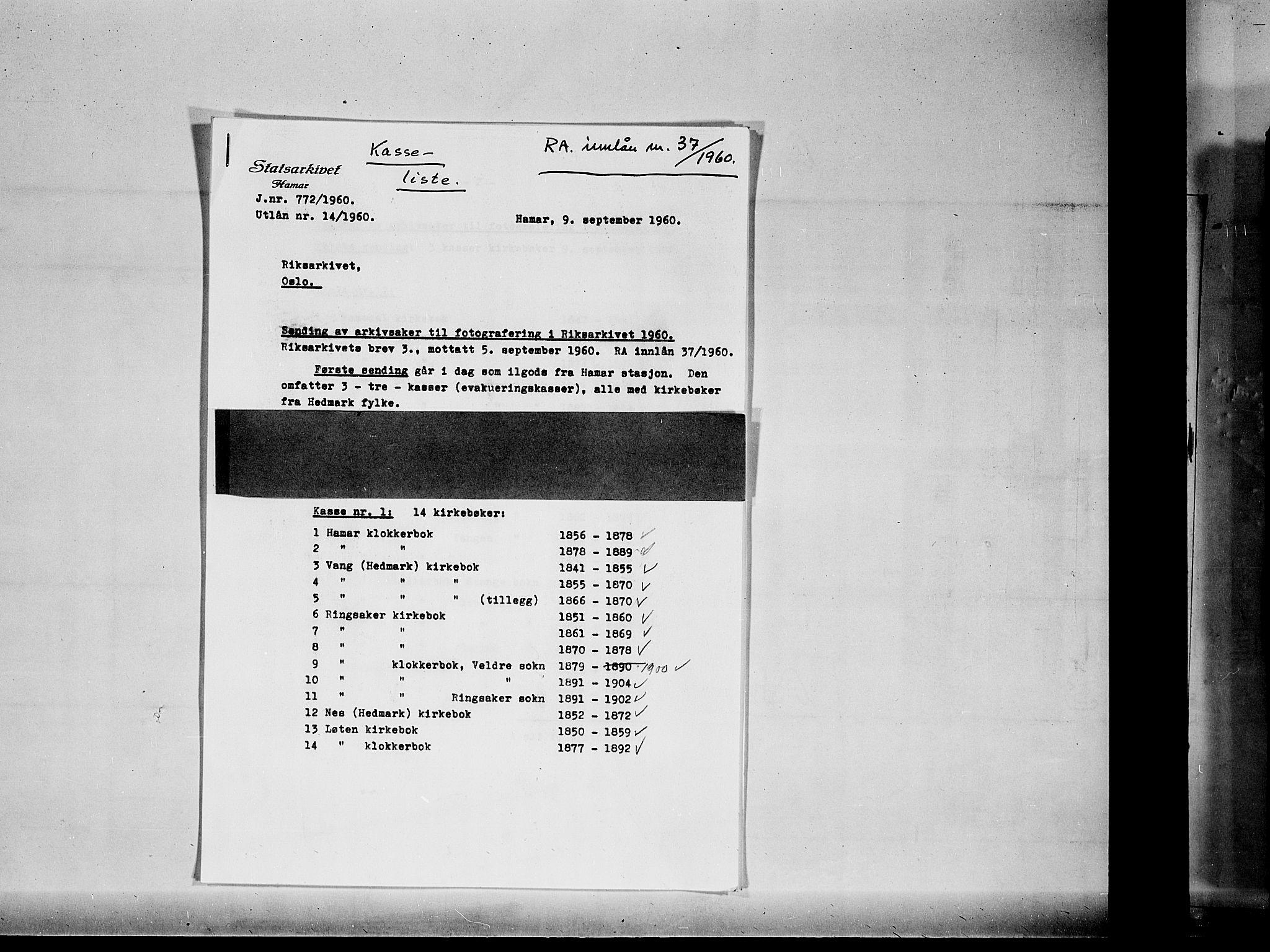 SAH, Vang prestekontor, Hedmark, H/Ha/Haa/L0012: Ministerialbok nr. 12, 1855-1870