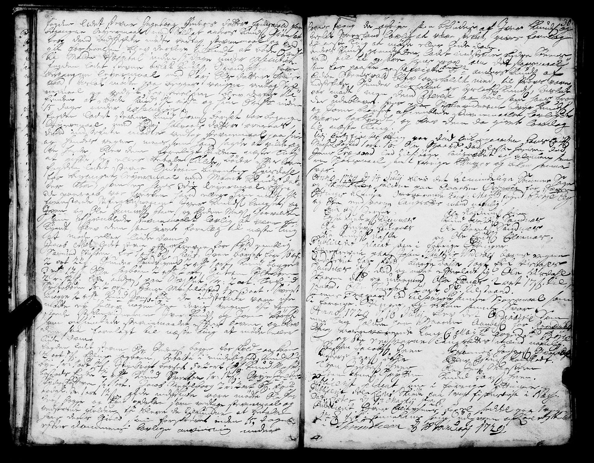 SAT, Romsdal sorenskriveri, 1/1A/L0010: Tingbok, 1728-1732, s. 30
