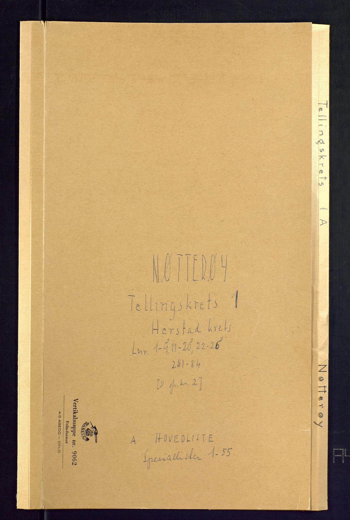 SAKO, Folketelling 1875 for 0722P Nøtterøy prestegjeld, 1875, s. 1