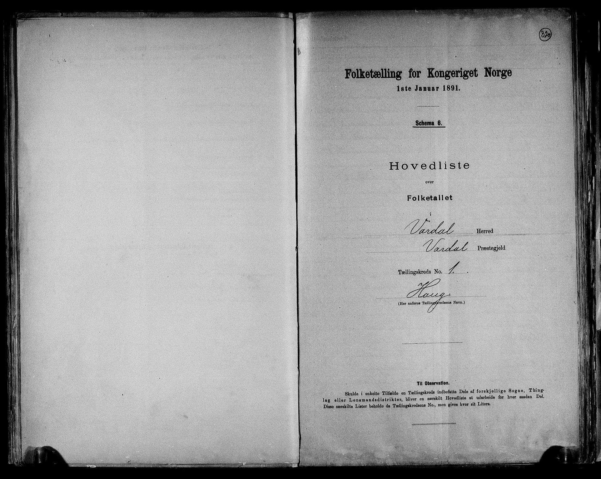 RA, Folketelling 1891 for 0527 Vardal herred, 1891, s. 4