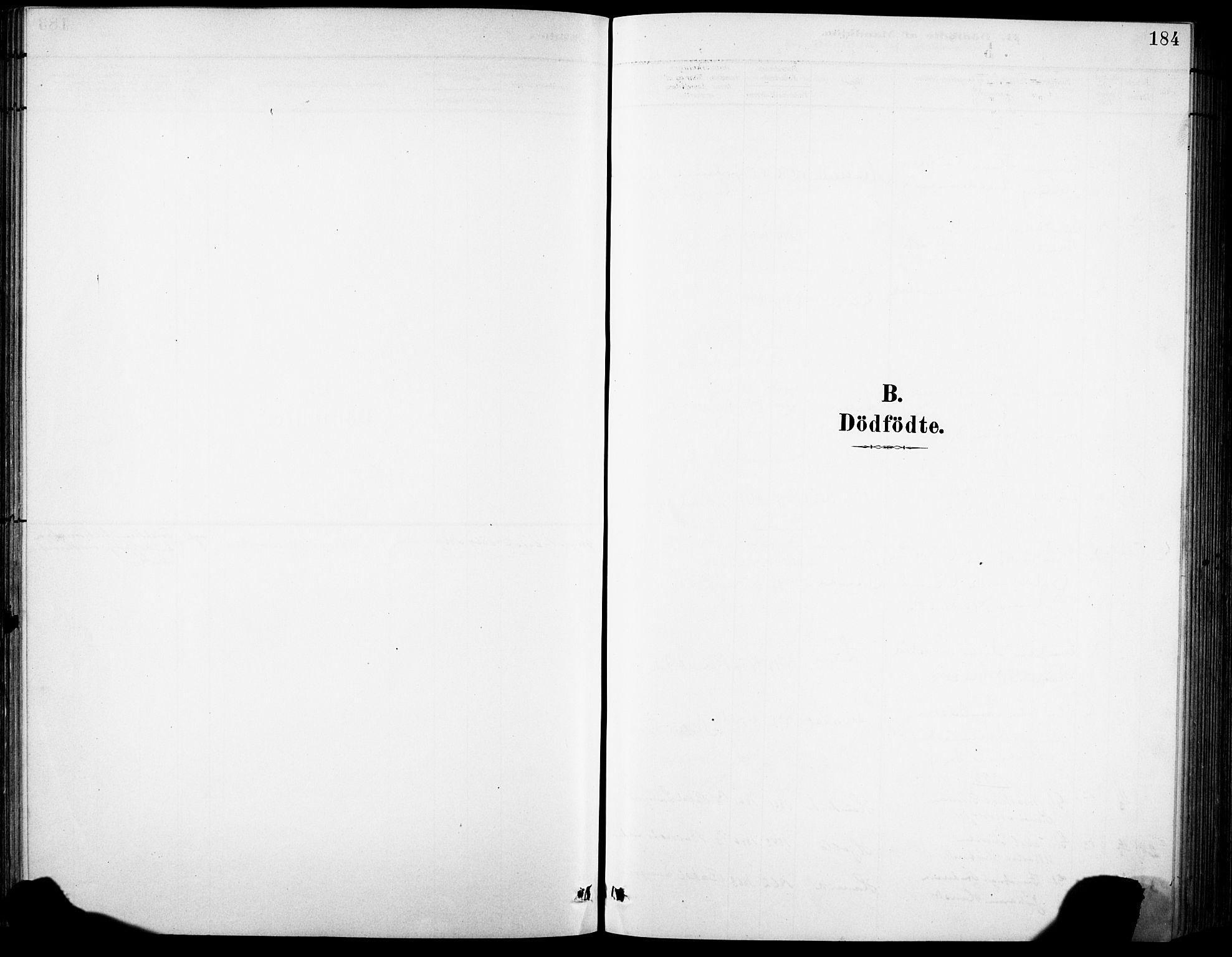 SAB, Eid Sokneprestembete, H/Hab: Klokkerbok nr. B 2, 1882-1907, s. 184