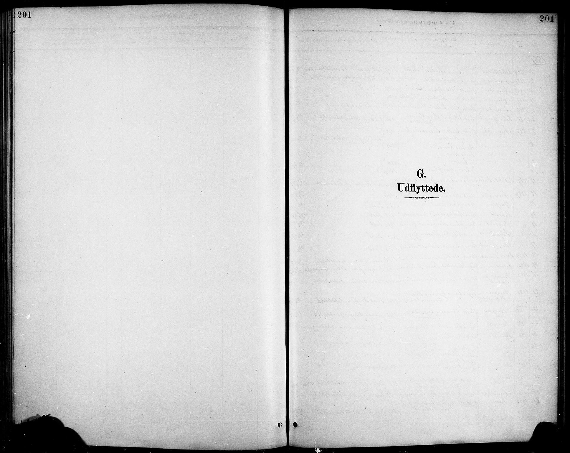 SAB, Haus sokneprestembete, H/Haa: Ministerialbok nr. D 1, 1887-1898, s. 201
