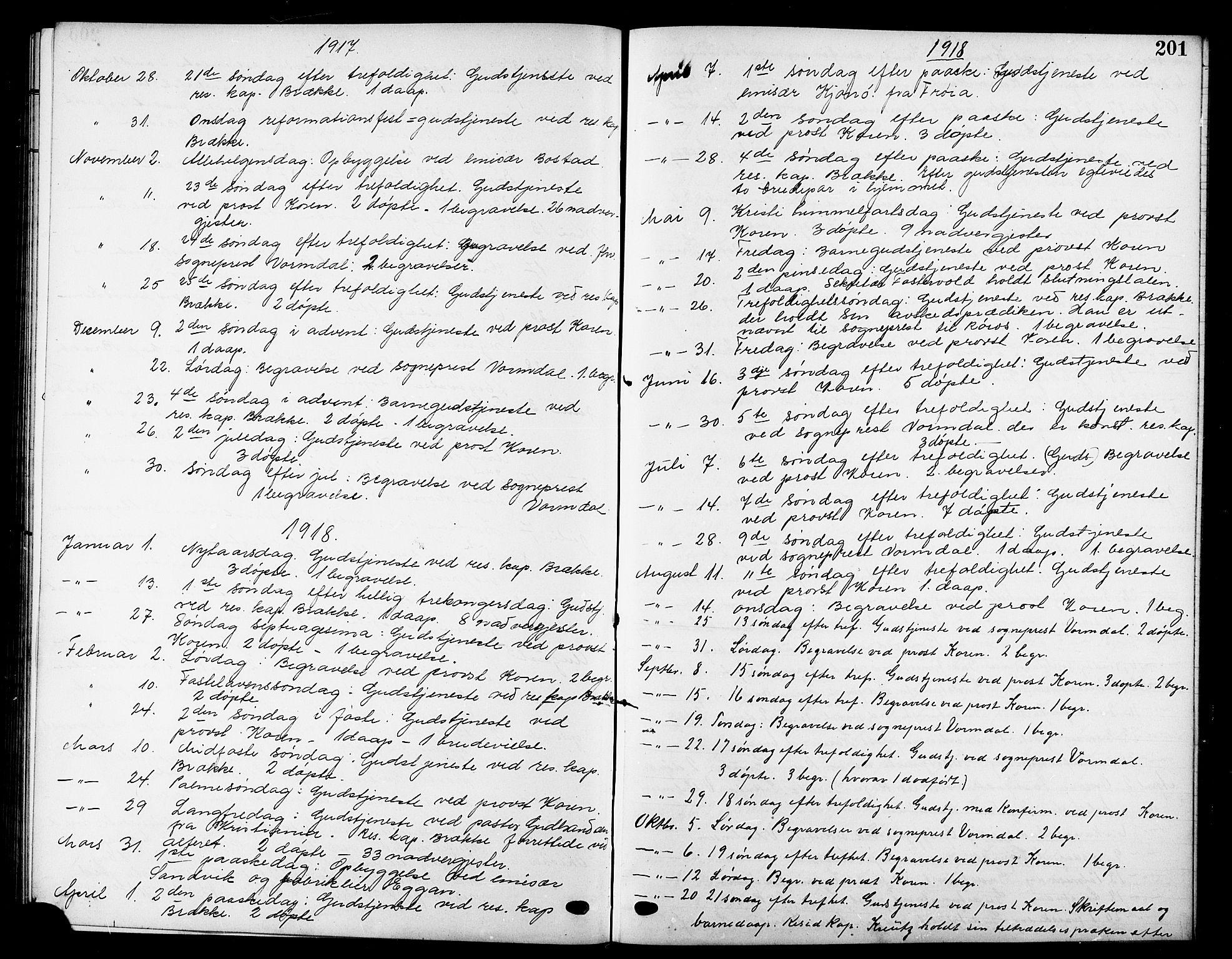SAT, Ministerialprotokoller, klokkerbøker og fødselsregistre - Sør-Trøndelag, 669/L0831: Klokkerbok nr. 669C01, 1909-1924, s. 201