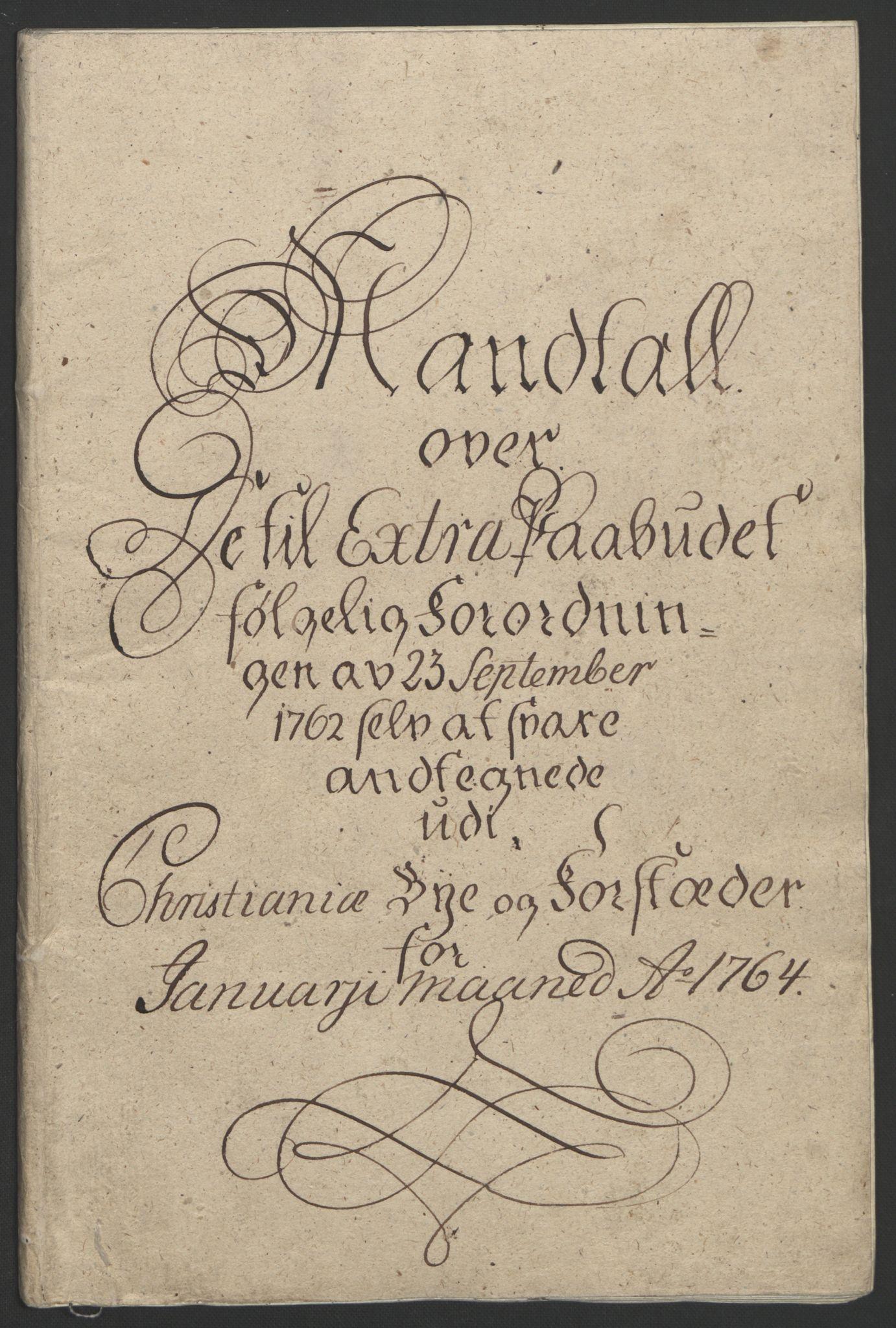 RA, Rentekammeret inntil 1814, Reviderte regnskaper, Byregnskaper, R/Re/L0072: [E13] Kontribusjonsregnskap, 1763-1764, s. 228