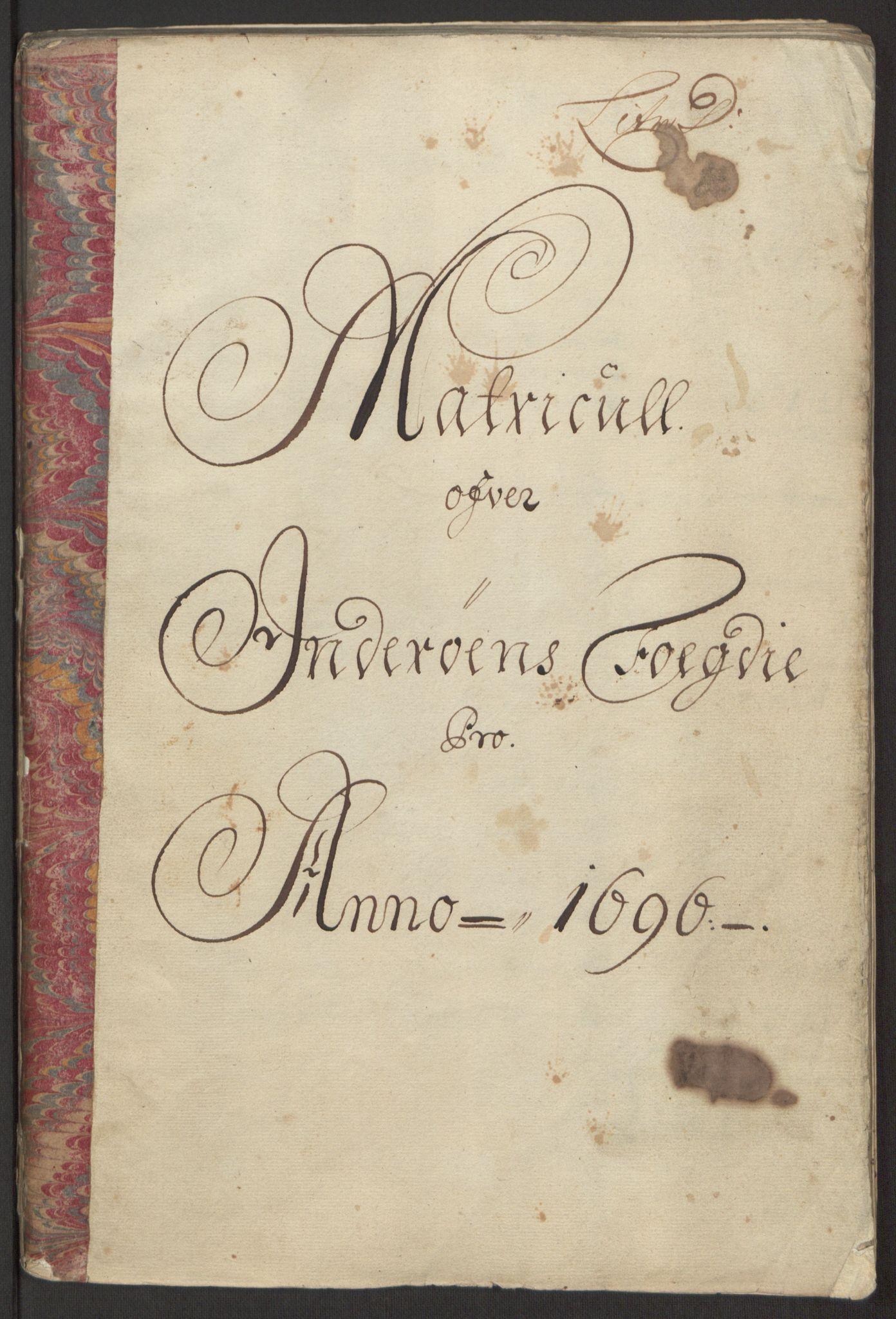 RA, Rentekammeret inntil 1814, Reviderte regnskaper, Fogderegnskap, R63/L4309: Fogderegnskap Inderøy, 1695-1697, s. 160