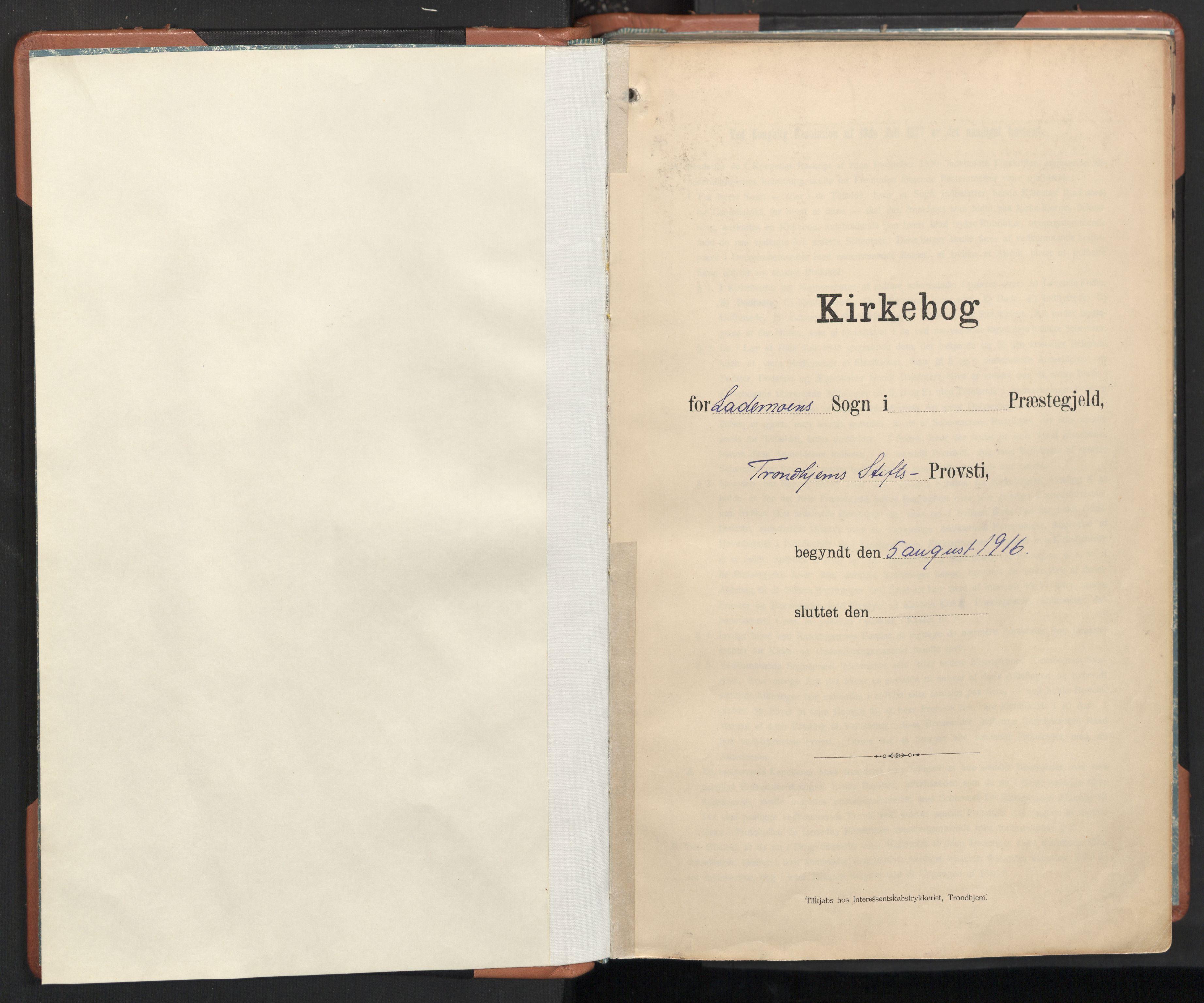 SAT, Ministerialprotokoller, klokkerbøker og fødselsregistre - Sør-Trøndelag, 605/L0245: Ministerialbok nr. 605A07, 1916-1938