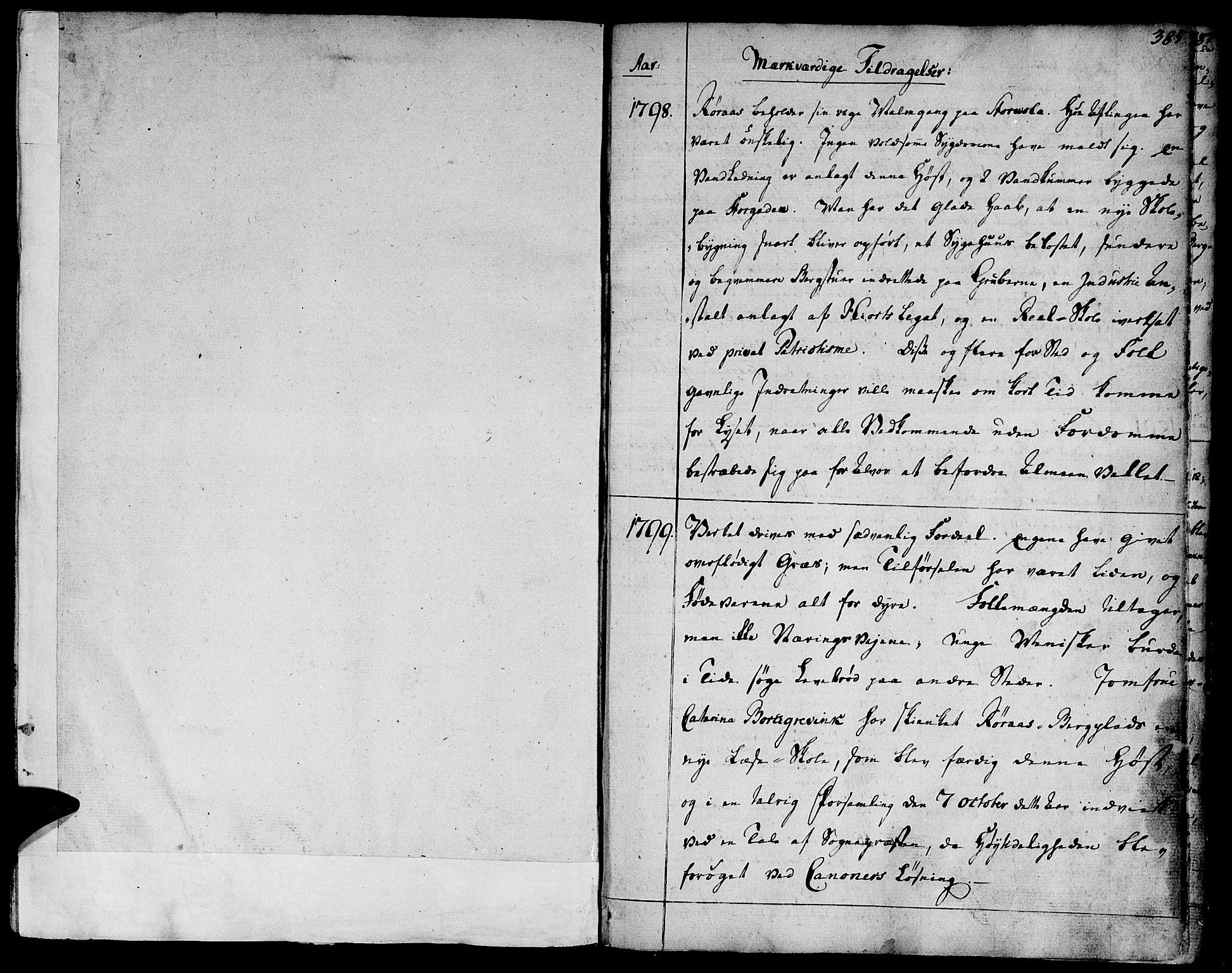 SAT, Ministerialprotokoller, klokkerbøker og fødselsregistre - Sør-Trøndelag, 681/L0927: Ministerialbok nr. 681A05, 1798-1808, s. 384-385