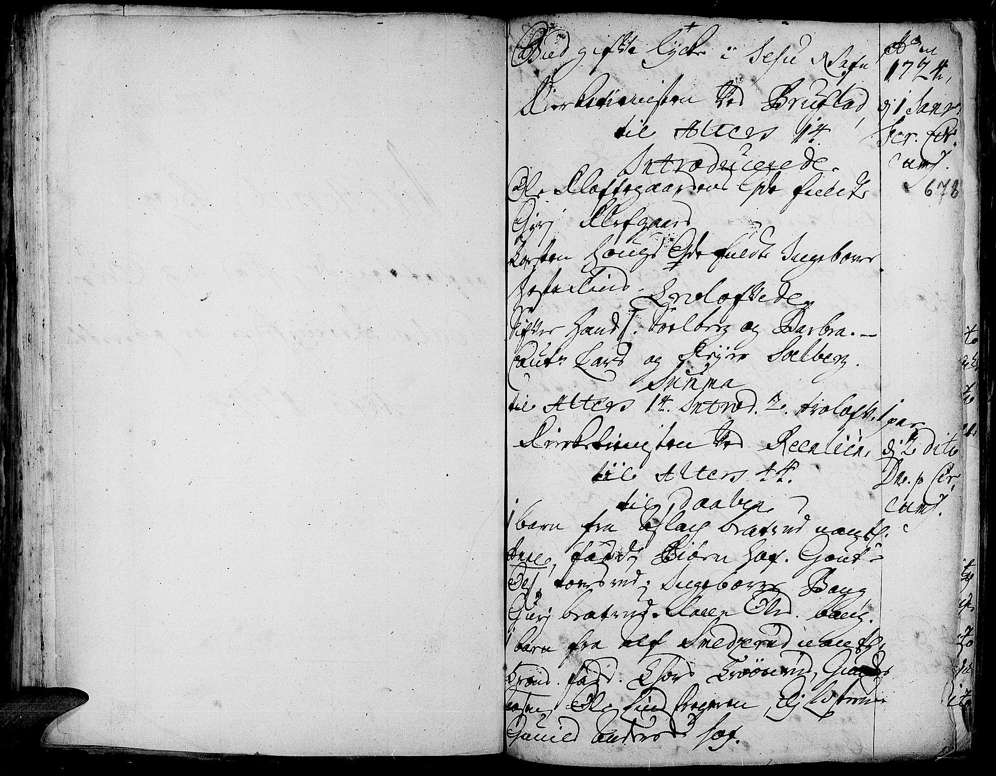 SAH, Aurdal prestekontor, Ministerialbok nr. 1-3, 1692-1730, s. 678