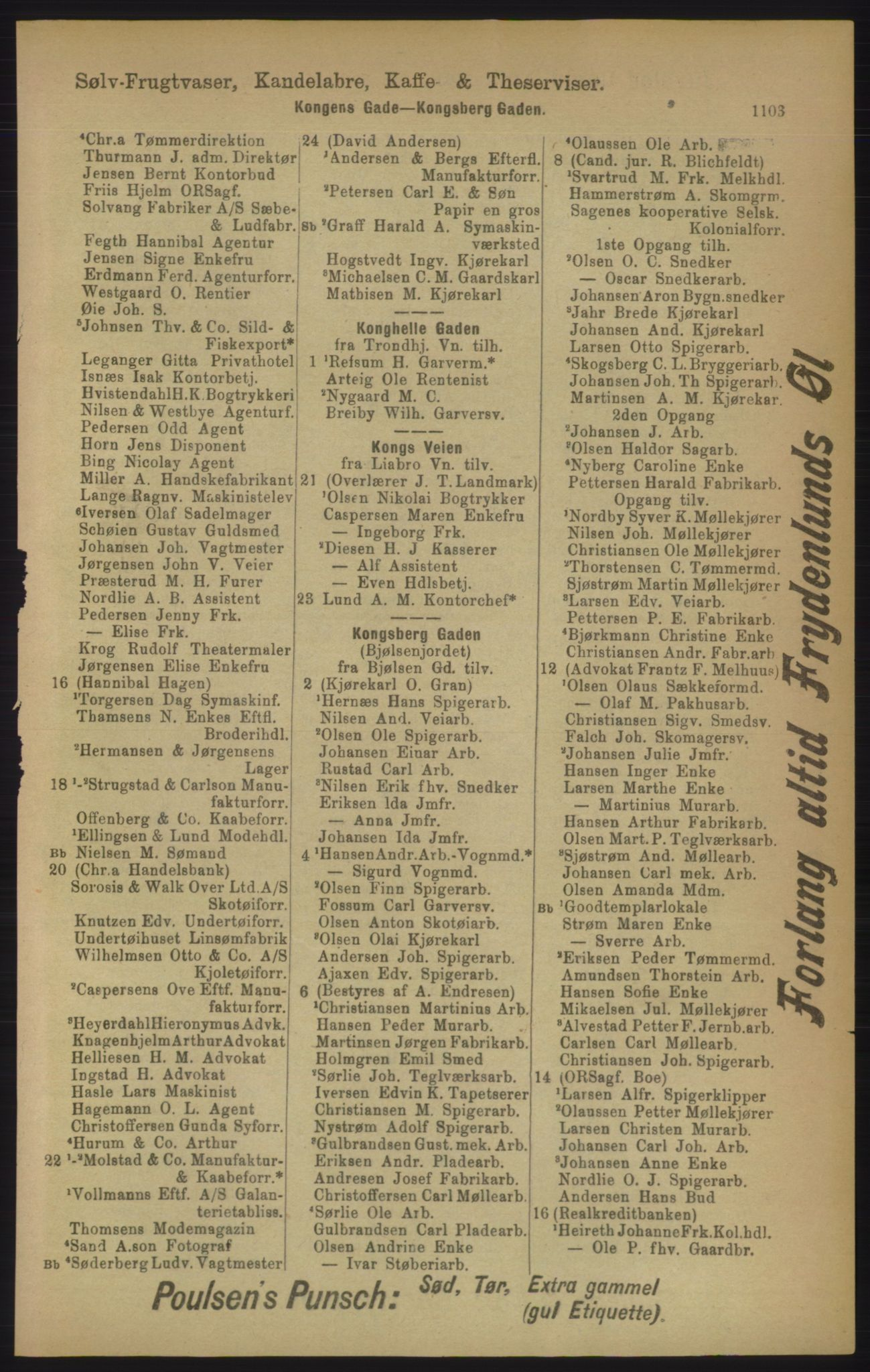 RA, Kristiania adressebok (publikasjon)*, 1906, s. 1103