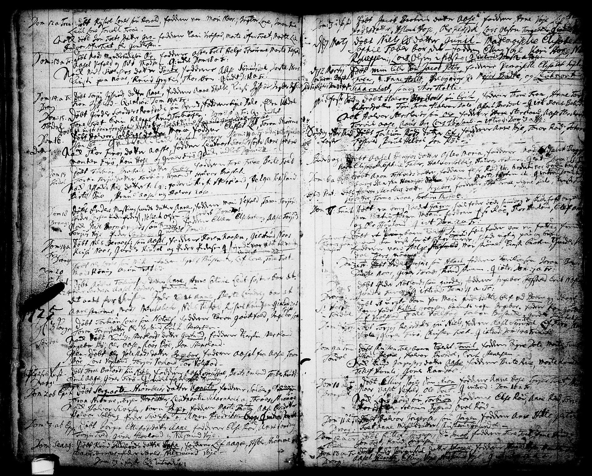 SAKO, Drangedal kirkebøker, F/Fa/L0001: Ministerialbok nr. 1, 1697-1767, s. 47